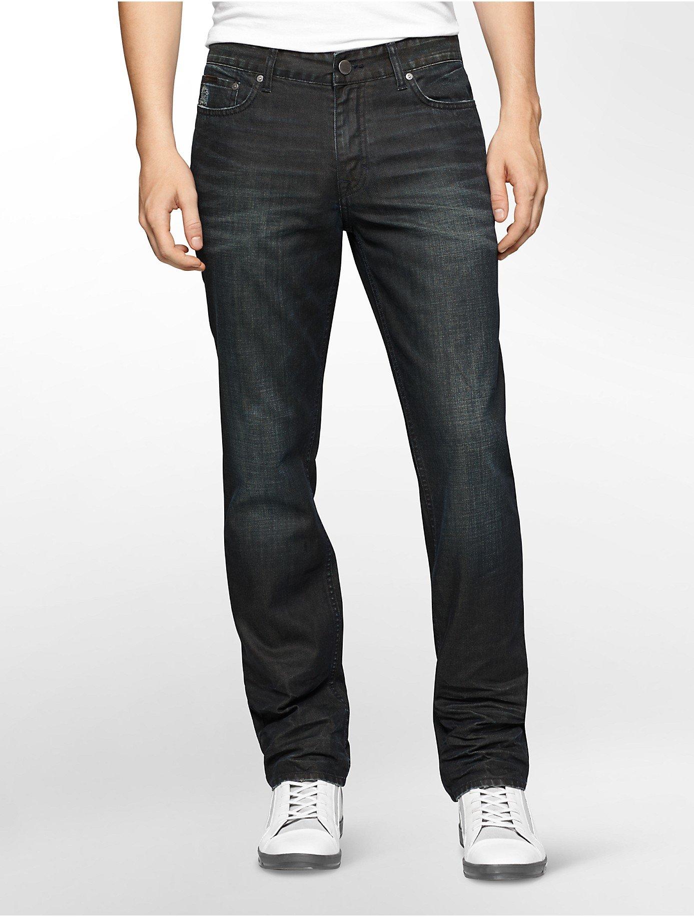 calvin klein jeans slim straight leg velocity black wash. Black Bedroom Furniture Sets. Home Design Ideas
