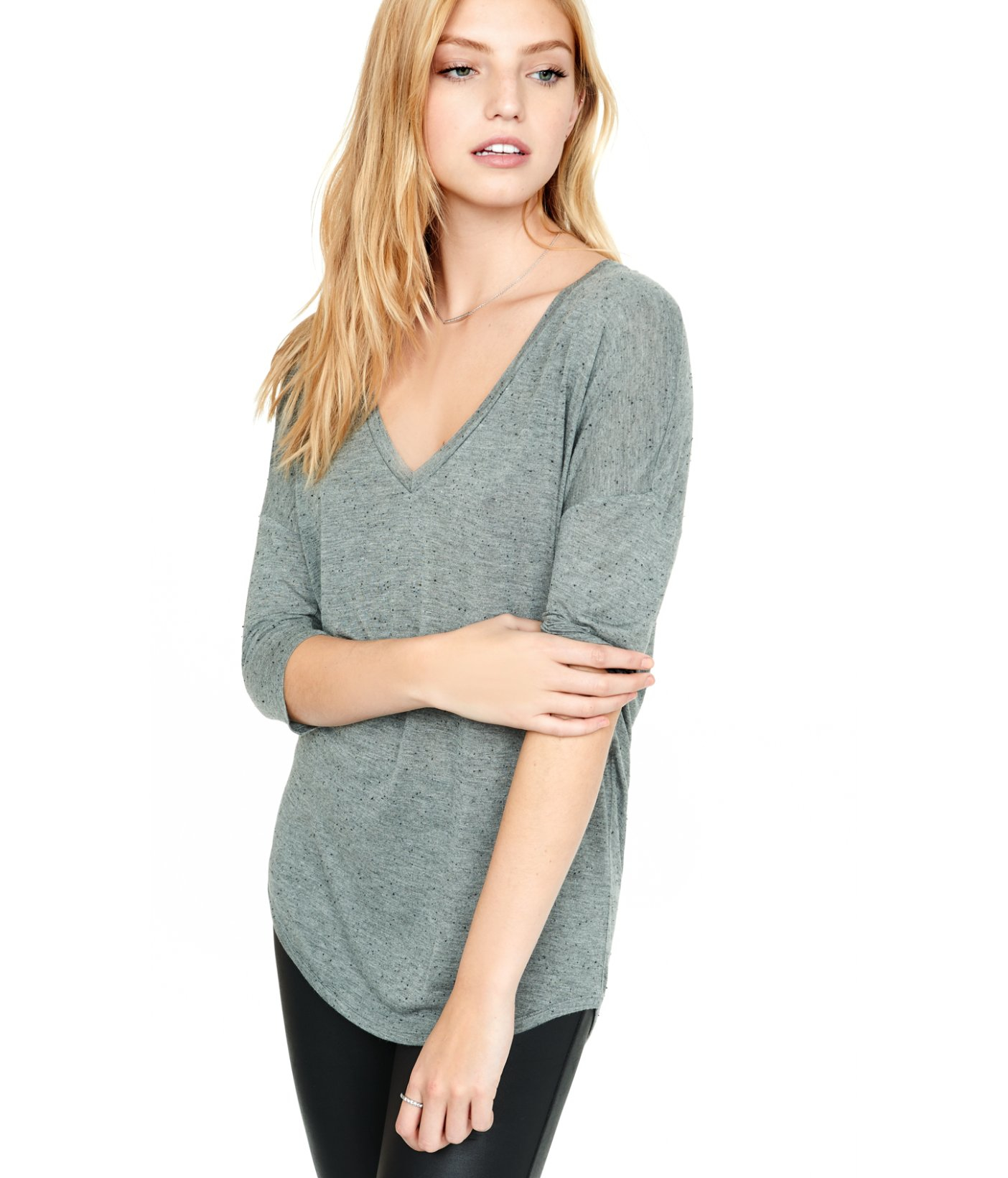 22925975 Express One Eleven Gray Nep London Tee in Gray - Lyst