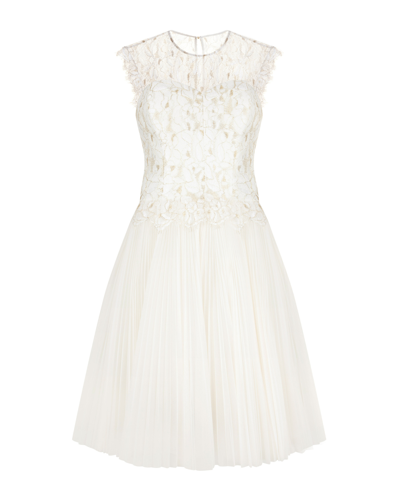 Ted Baker Lace Bodice Dress In White Cream Lyst