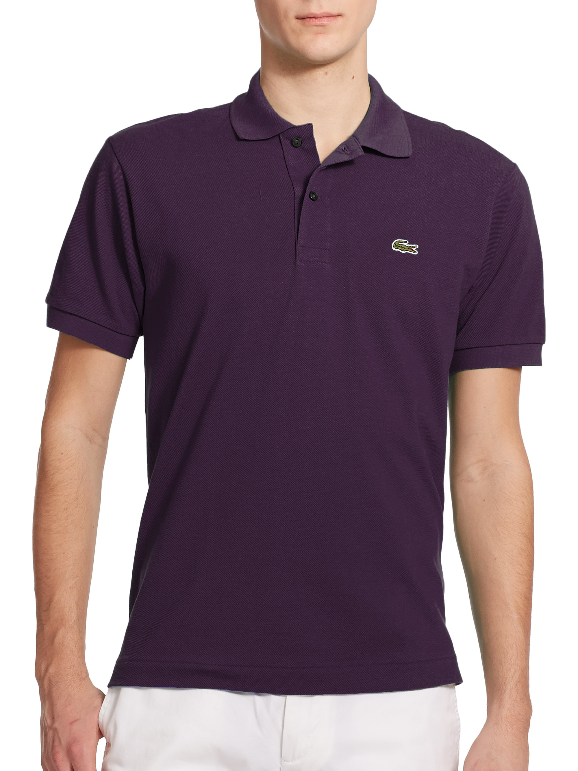 Lyst Lacoste Polo Shirt In Purple For Men