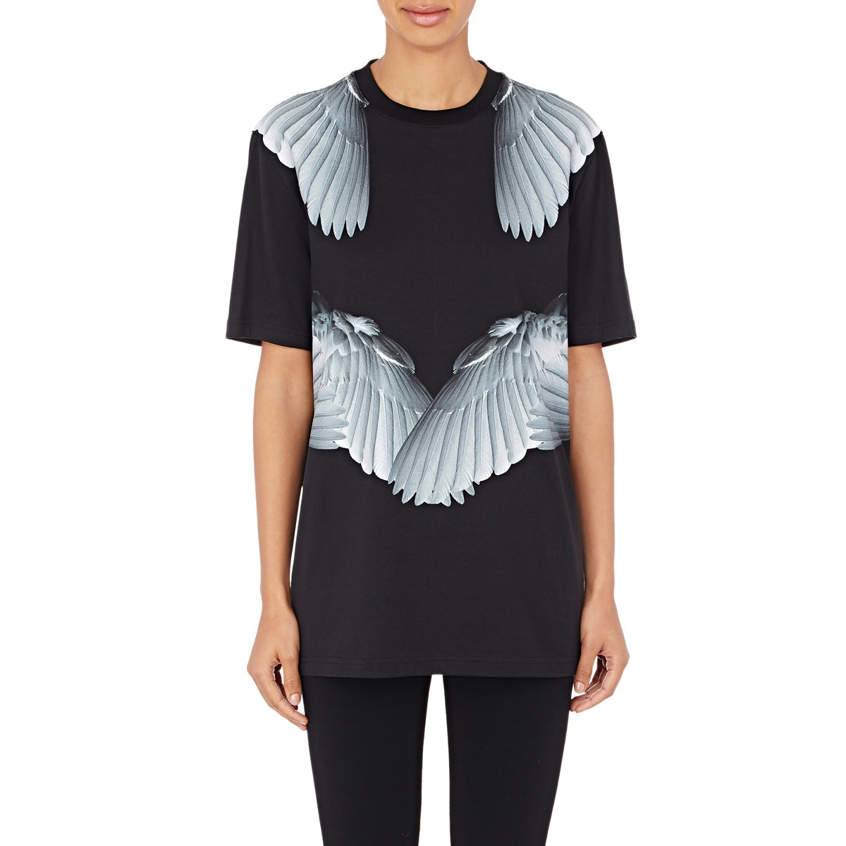 givenchy angel wing t shirt in black lyst. Black Bedroom Furniture Sets. Home Design Ideas