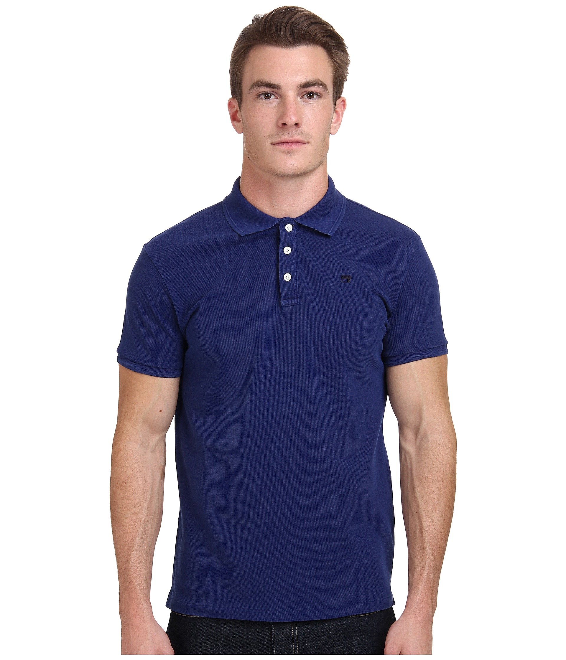 lyst scotch soda classic pique polo in blue for men. Black Bedroom Furniture Sets. Home Design Ideas