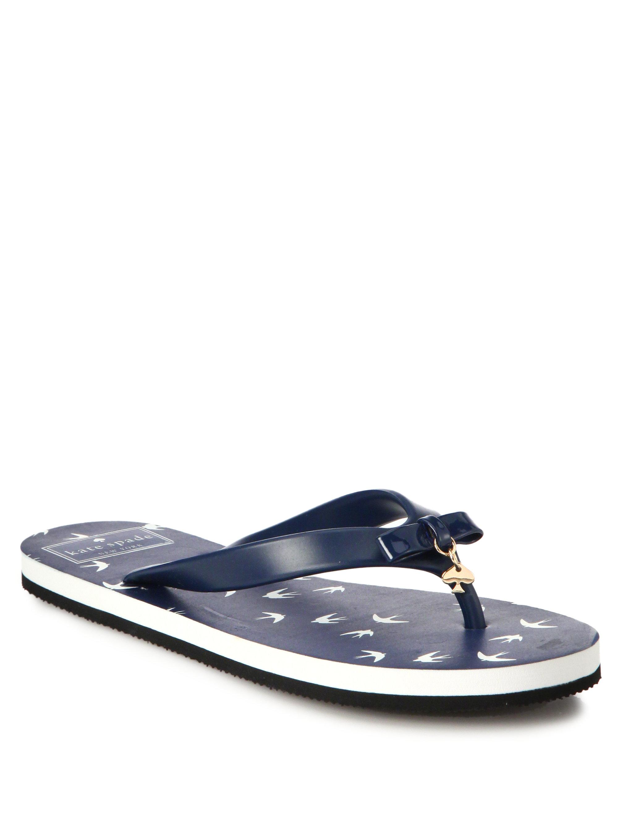 e5dc8de83f74 Lyst - Kate Spade Rhett Flip Flops in Blue