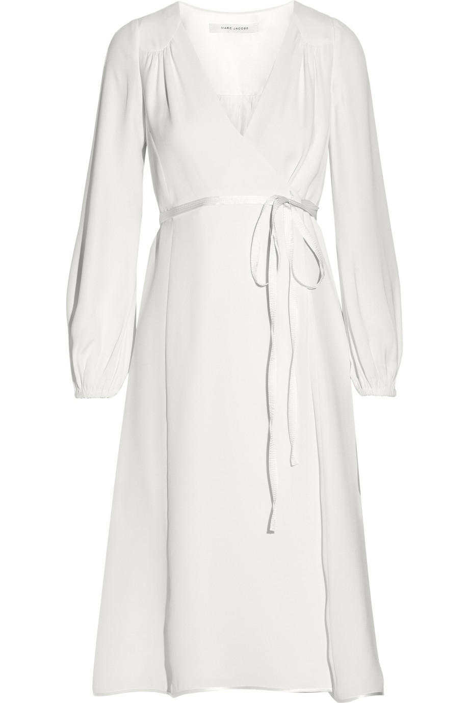 Lyst Marc Jacobs Silk Crepe Wrap Dress In White