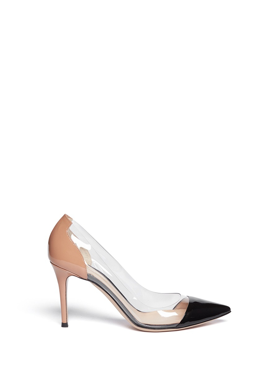 Gianvito Rossi Peep-Toe Bicolor Pumps eastbay cheap price free shipping low shipping nicekicks cheap price fast delivery for sale latest collections for sale J40B7