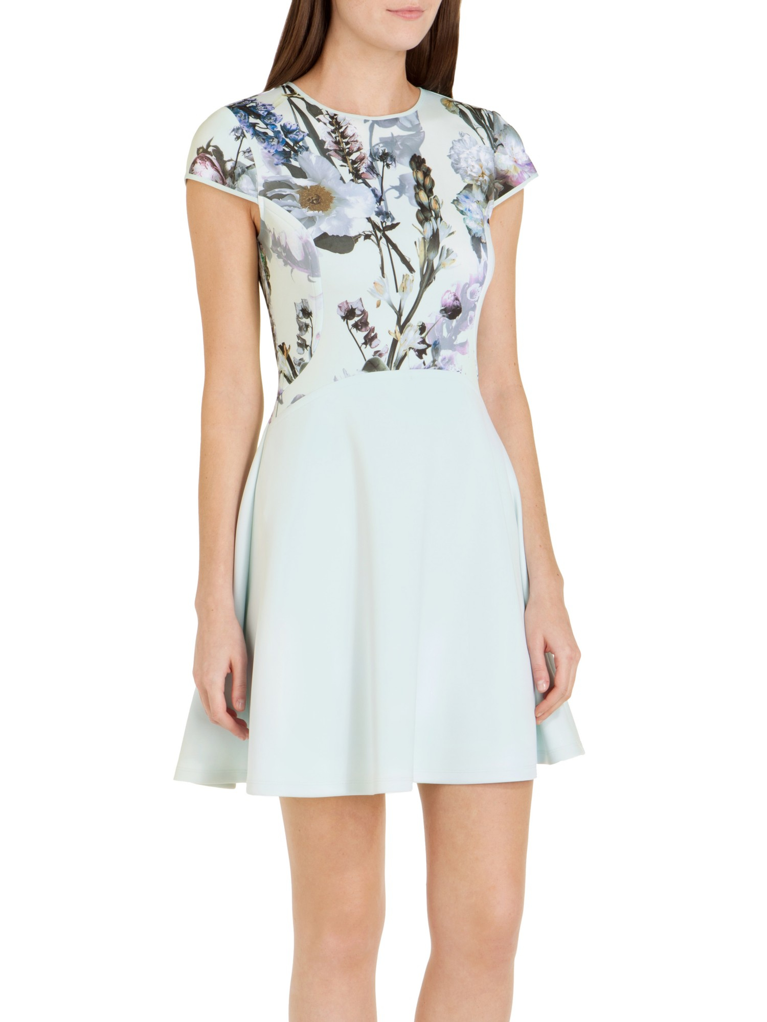 a7f0462073f86 Ted Baker Faythe Torchlit Floral Dress in Green - Lyst