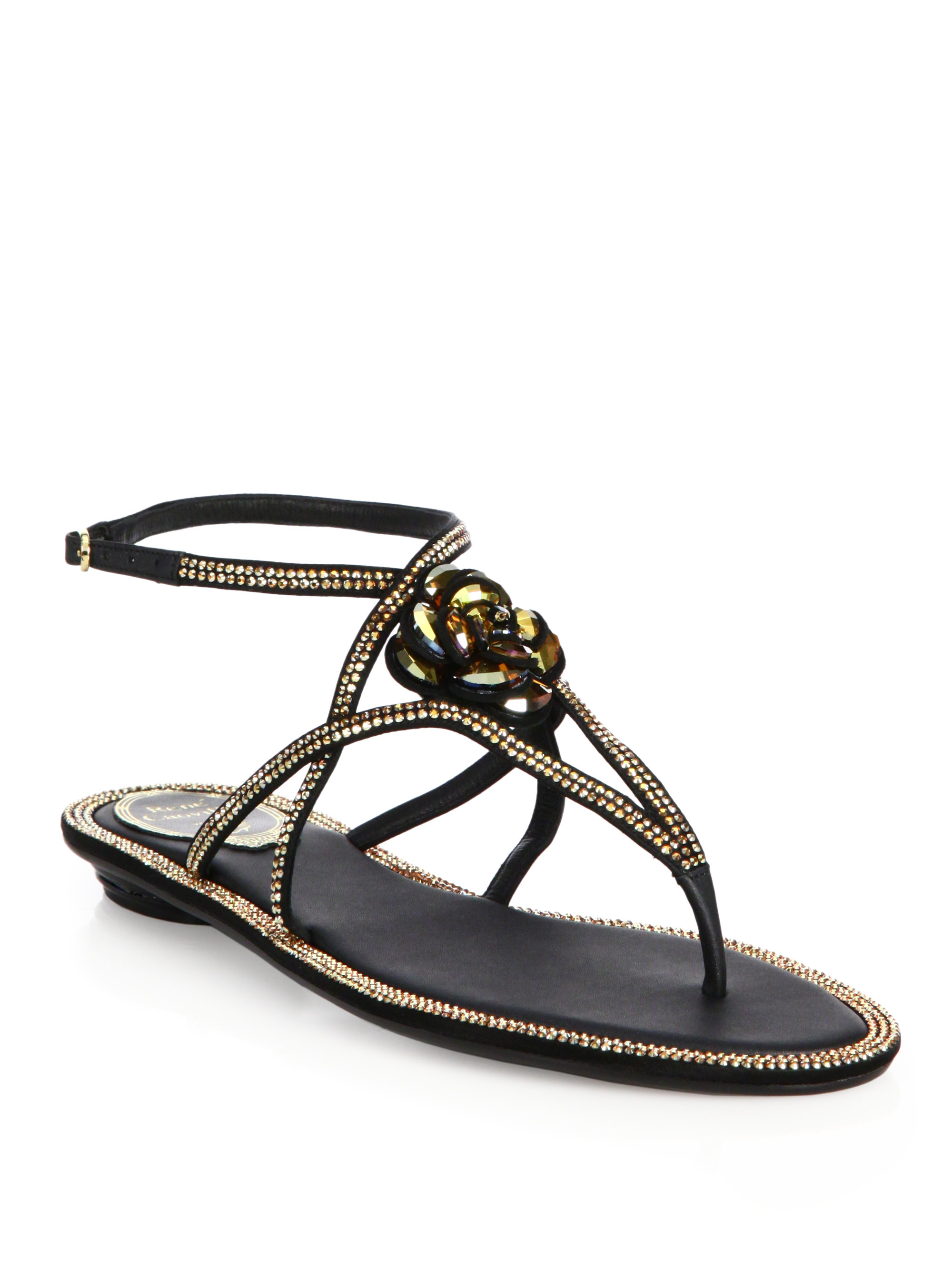 embellished thong sandals - Black Rene Caovilla 06p50