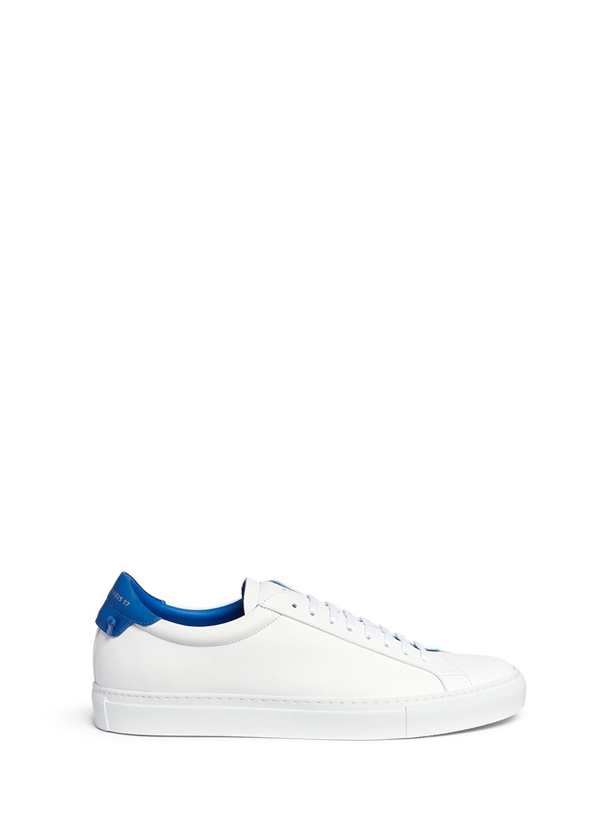 8b60ac00aa96 Lyst - Givenchy  urban Street  Knot Collar Leather Sneakers in White ...