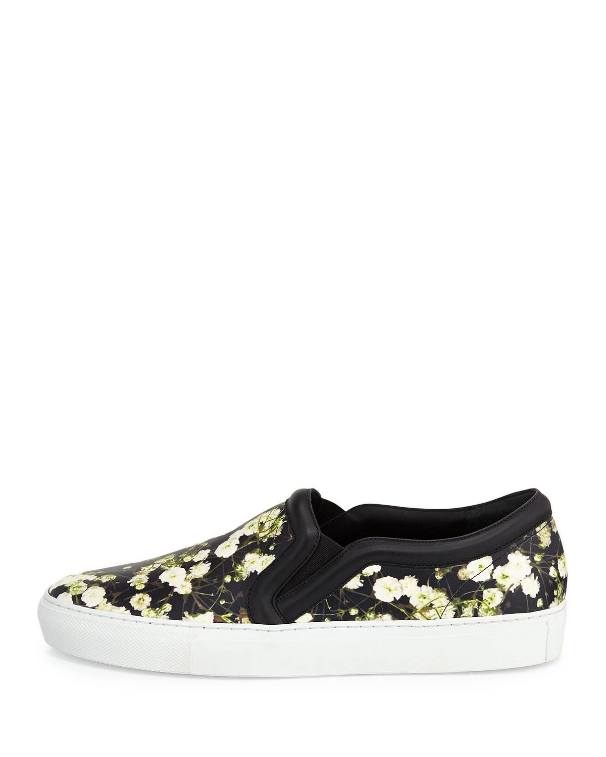 Givenchy Skate Shoes In Floral Print And Black Leather