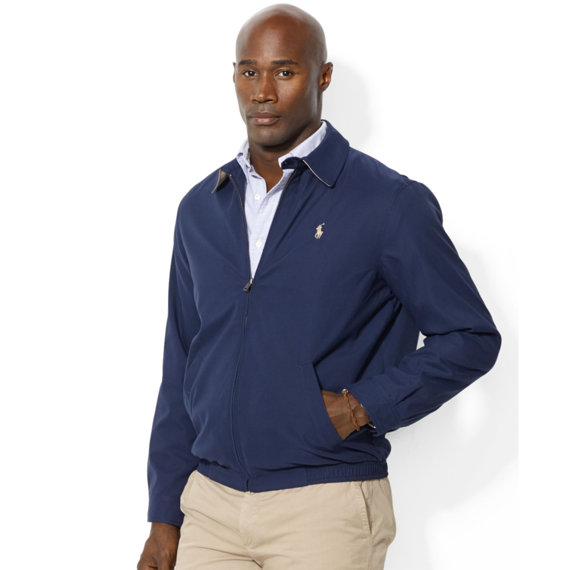ralph lauren biswing windbreaker in blue for men lyst. Black Bedroom Furniture Sets. Home Design Ideas