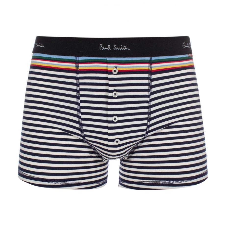 0b7b30be0a47 Paul Smith Men's Navy And White Striped Low-rise Boxer Briefs in ...