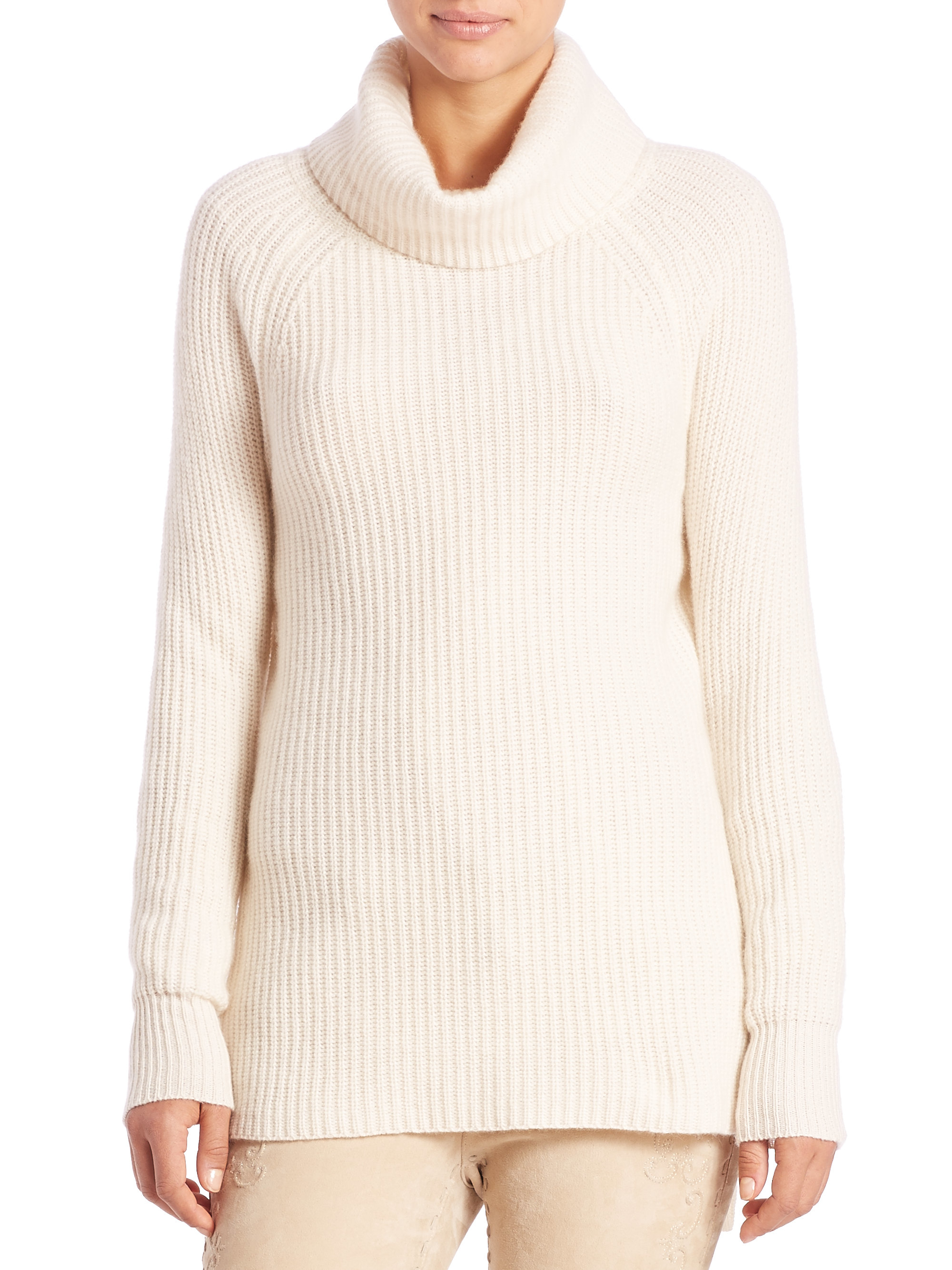 Polo ralph lauren Alpaca-blend Turtleneck Sweater in White | Lyst