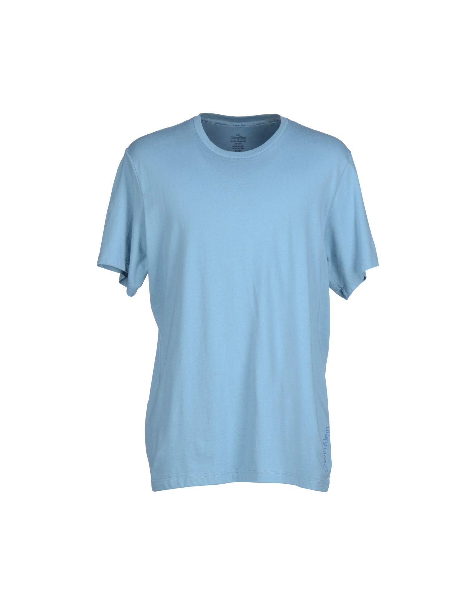 calvin klein t shirt in blue for men sky blue lyst. Black Bedroom Furniture Sets. Home Design Ideas