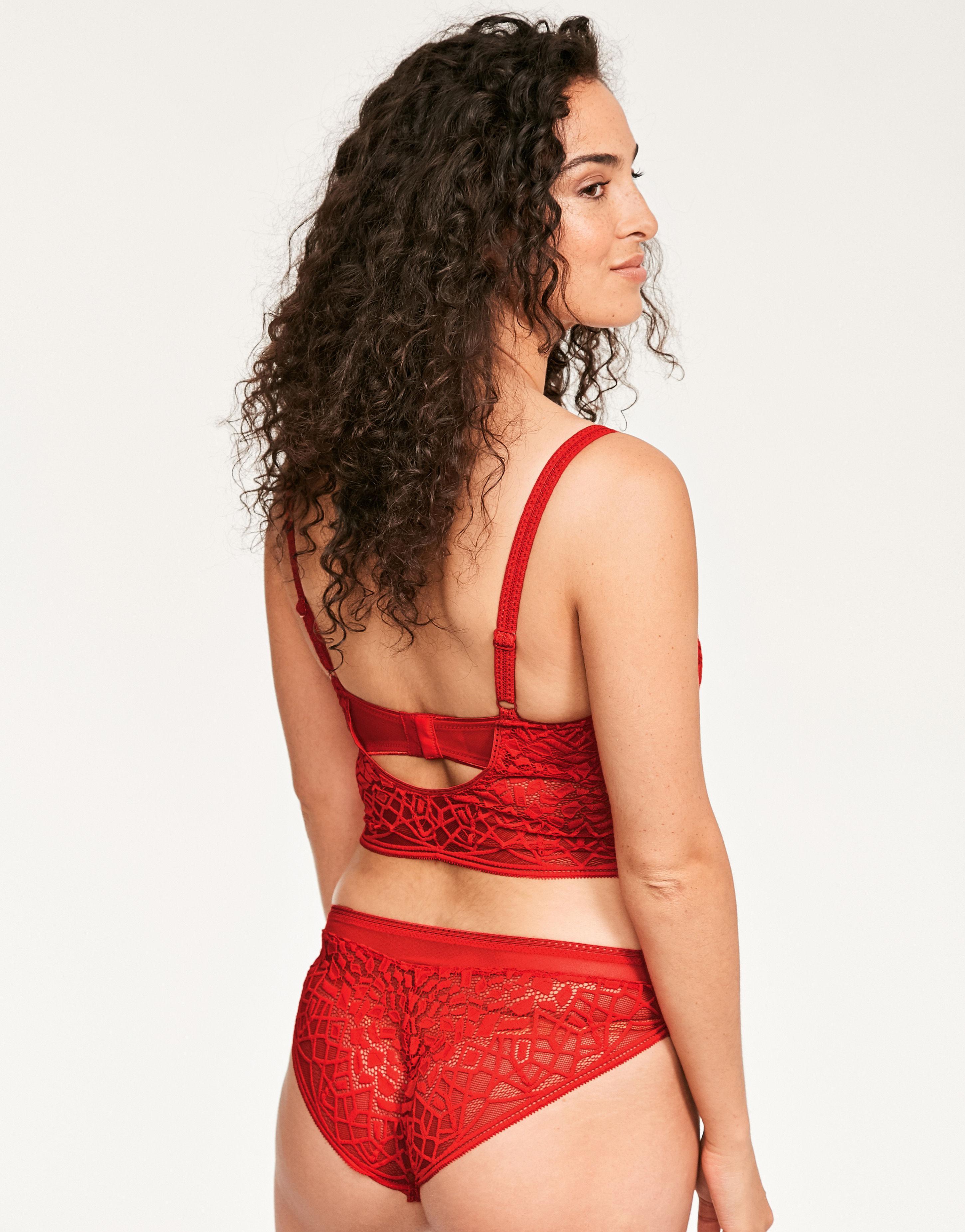 7fffa985a3bb2 Freya Soiree Lace Underwire Bralette in Red - Lyst