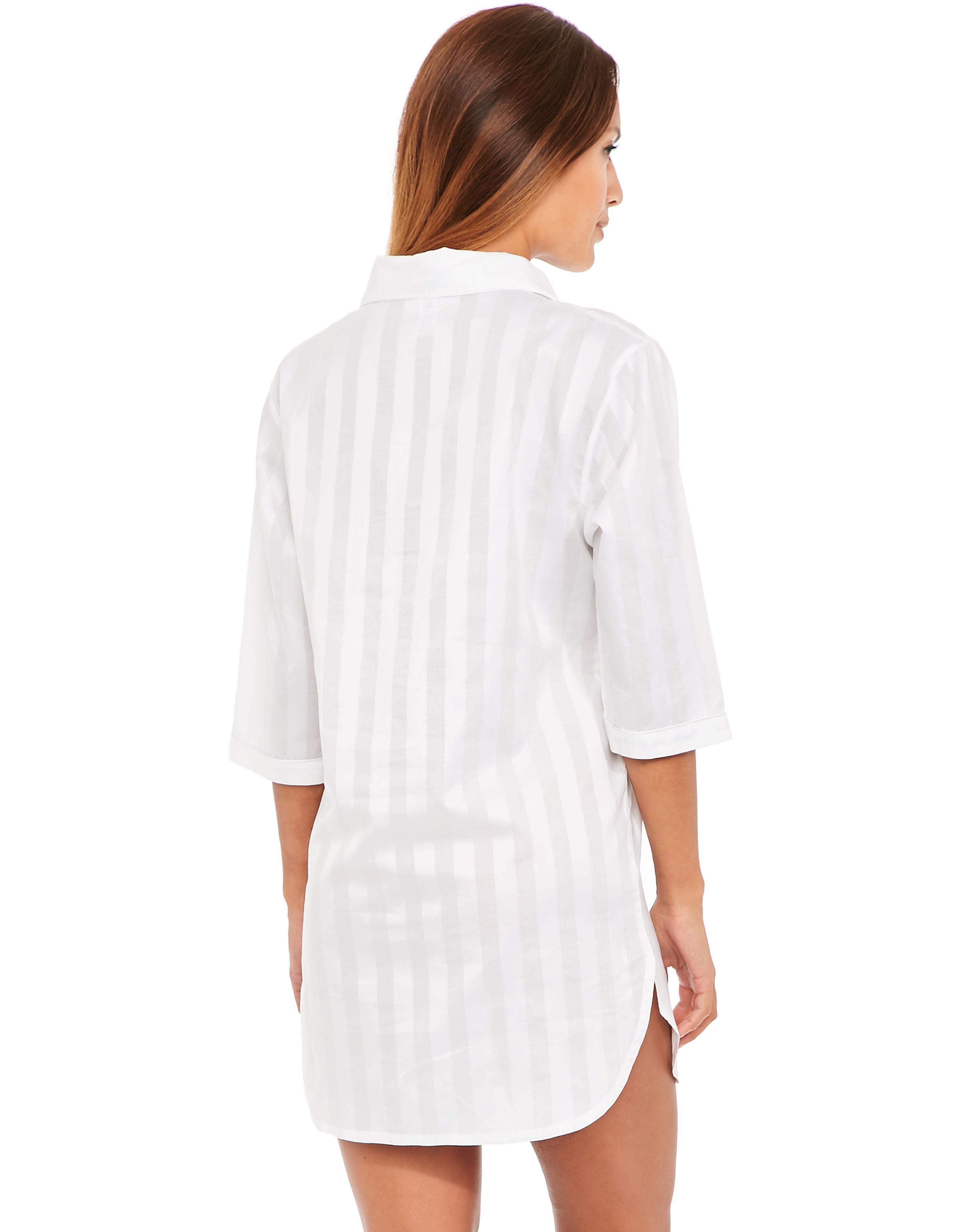 Bodas Cotton Nightwear Nightshirt in White - Lyst 4e514510b