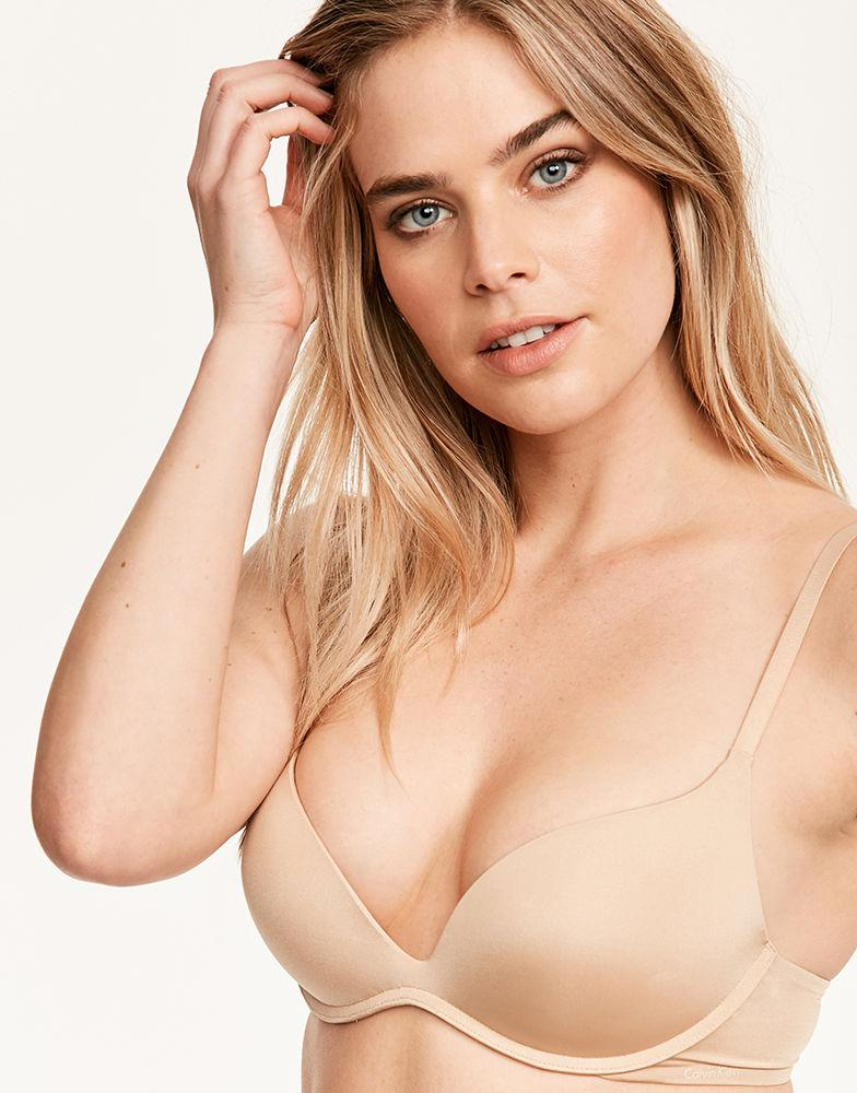 11beeb2f4de08 Calvin Klein Push Positive Non Wired Push Up Bra in Natural - Lyst