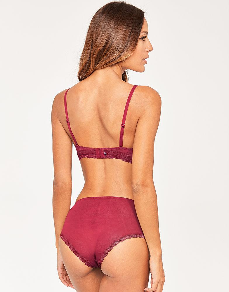 888c2943dc3 Simone Perele Kiss Full Cup Plunge in Red - Lyst