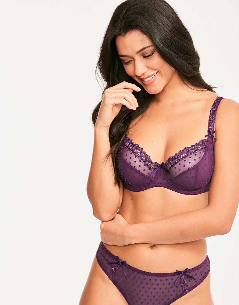 8c8f7d10616ab Curvy Kate Princess Balcony Bra in Purple - Lyst