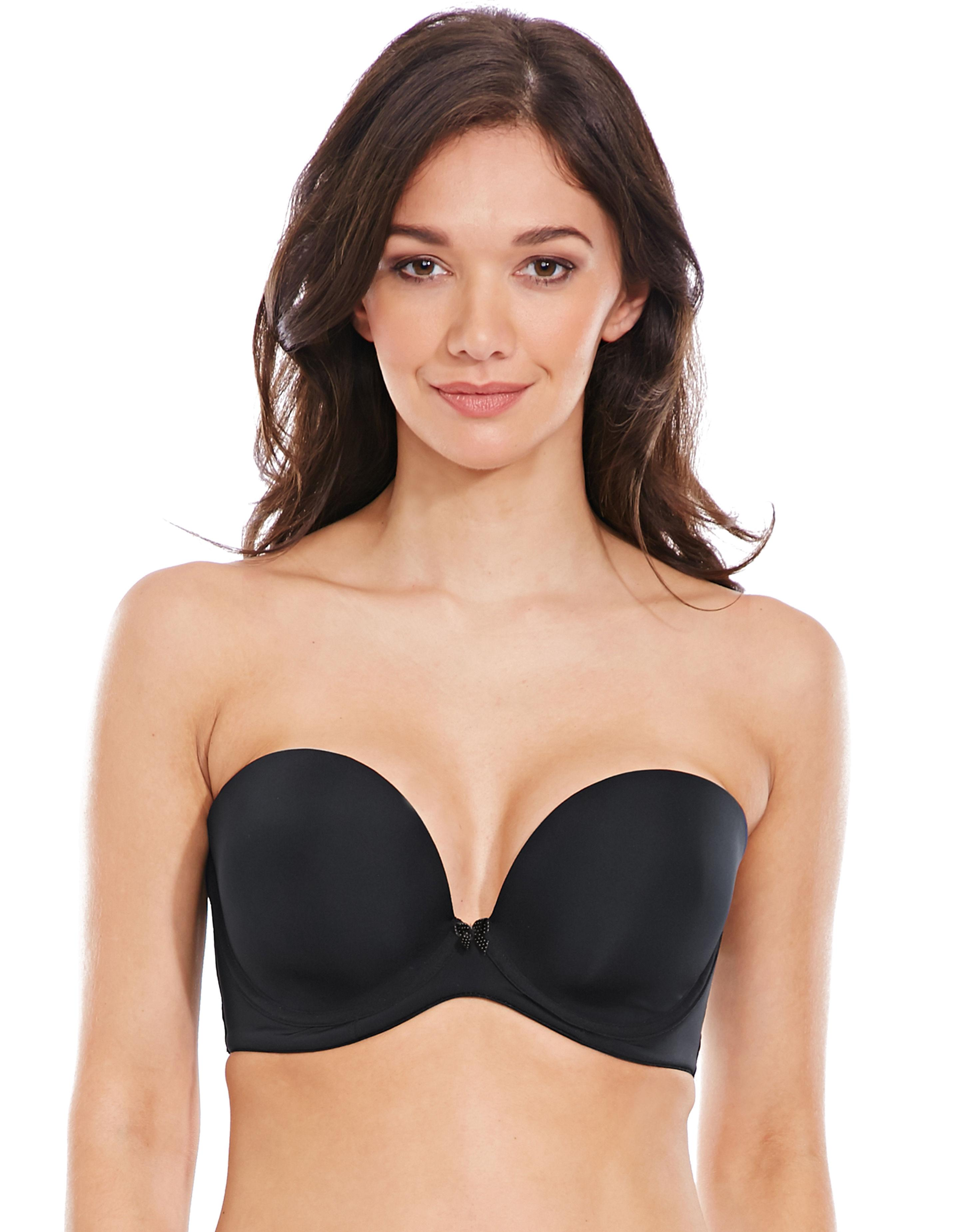 37d56bc1a3 Cleo By Panache Koko Strapless Moulded Plunge Bra in Black - Lyst