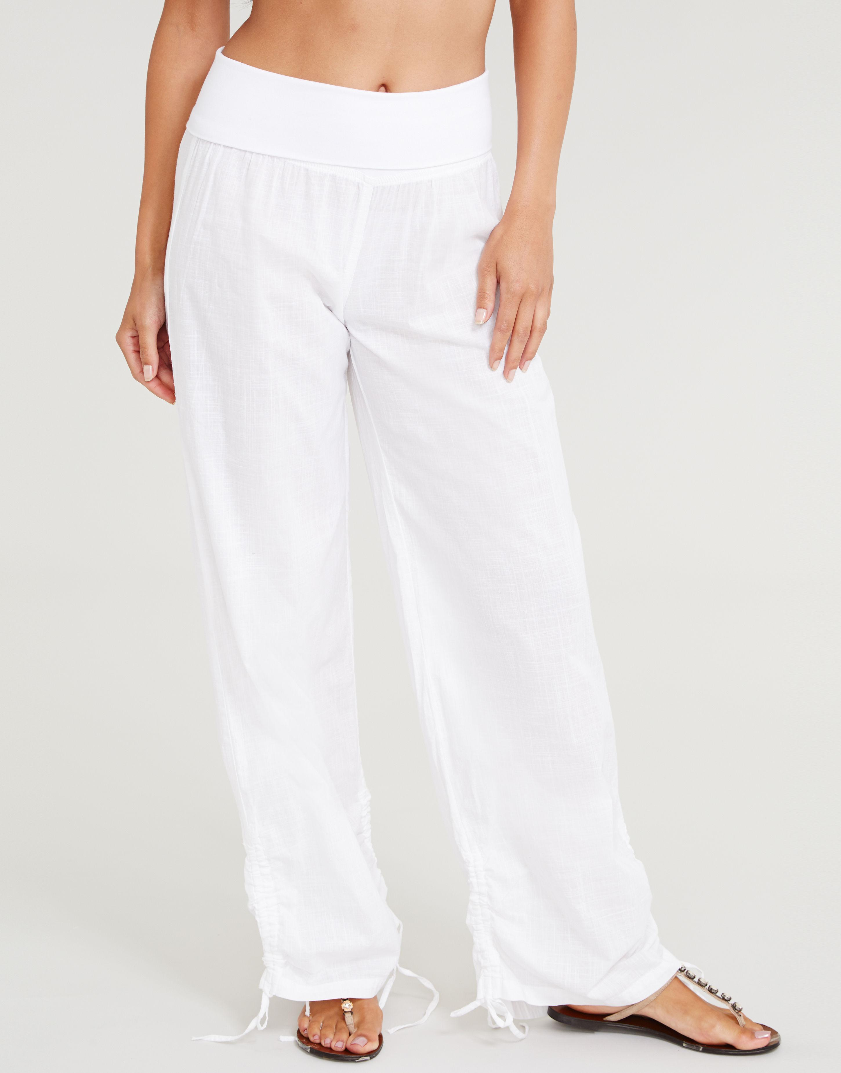 genuine shoes discount complete range of articles Figleaves St Maxime Cotton Beach Pant in White - Lyst