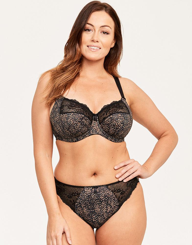 6926a5ea18f30 Elomi Morgan Underwired Banded Bra in Black - Lyst