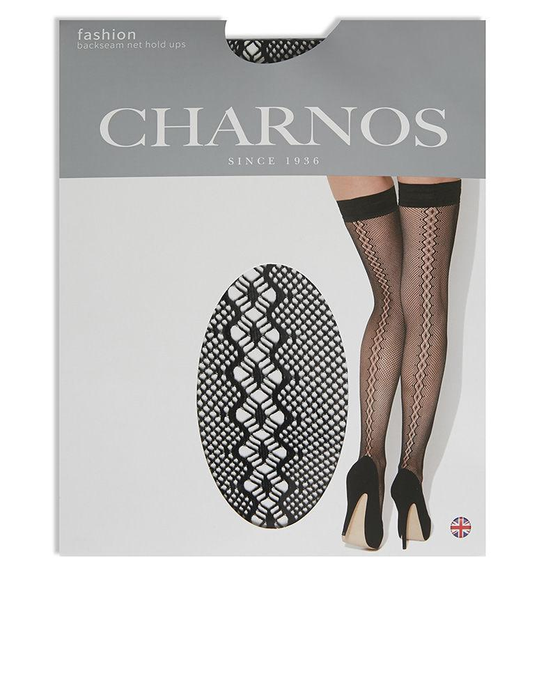 57cfc60f8 Charnos Sparkle Backseam Net Hold Ups in Black - Lyst