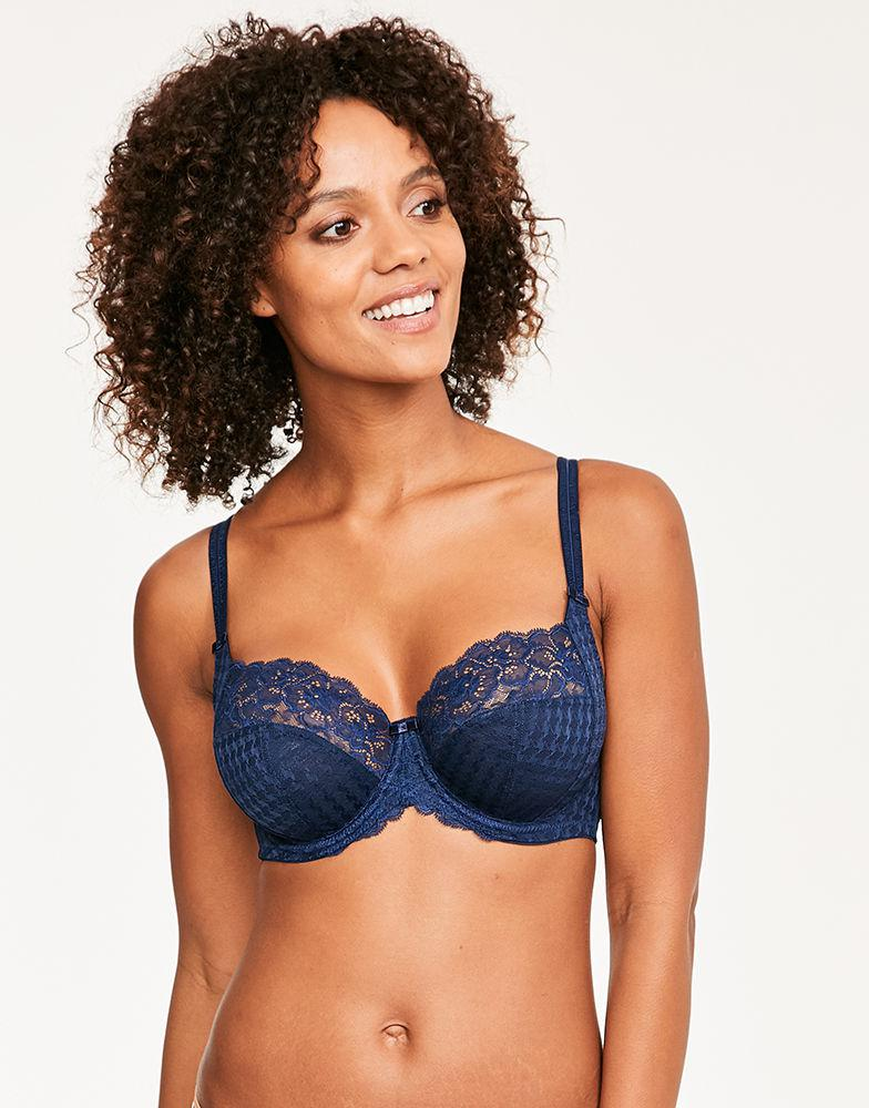 3befa0b738b Panache  envy  Underwire Stretch Lace Bra in Blue - Lyst
