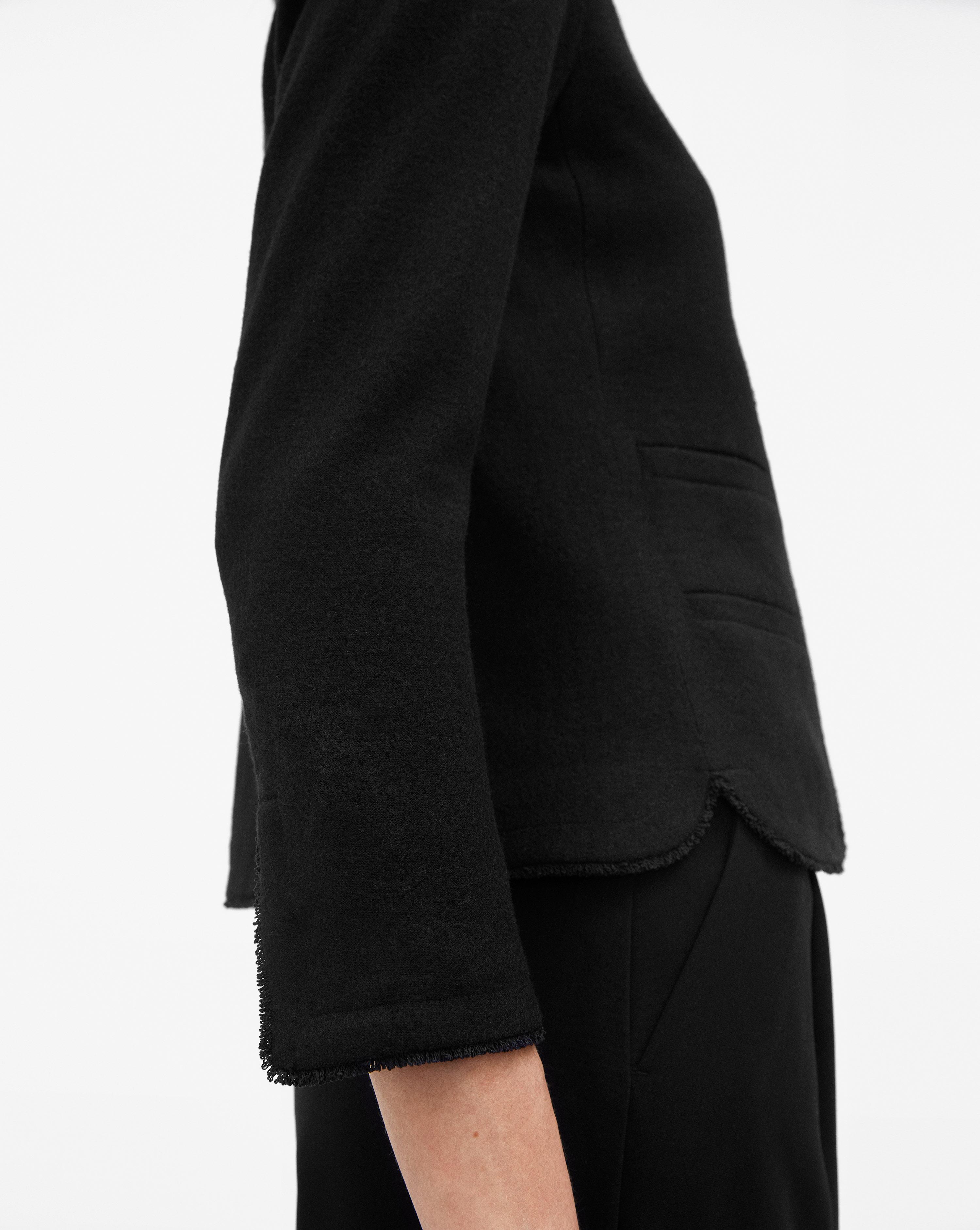 Feminine Lyst Filippa In Boiled Wool Jacket Black K gxwPZ
