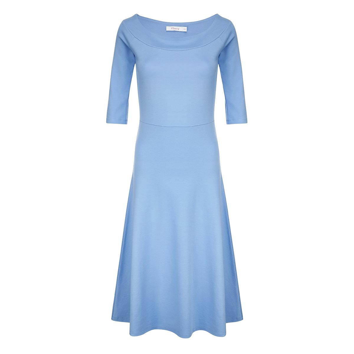 Dudlington Cornflower Blue Off-Shoulder Dress Finery vZFZk