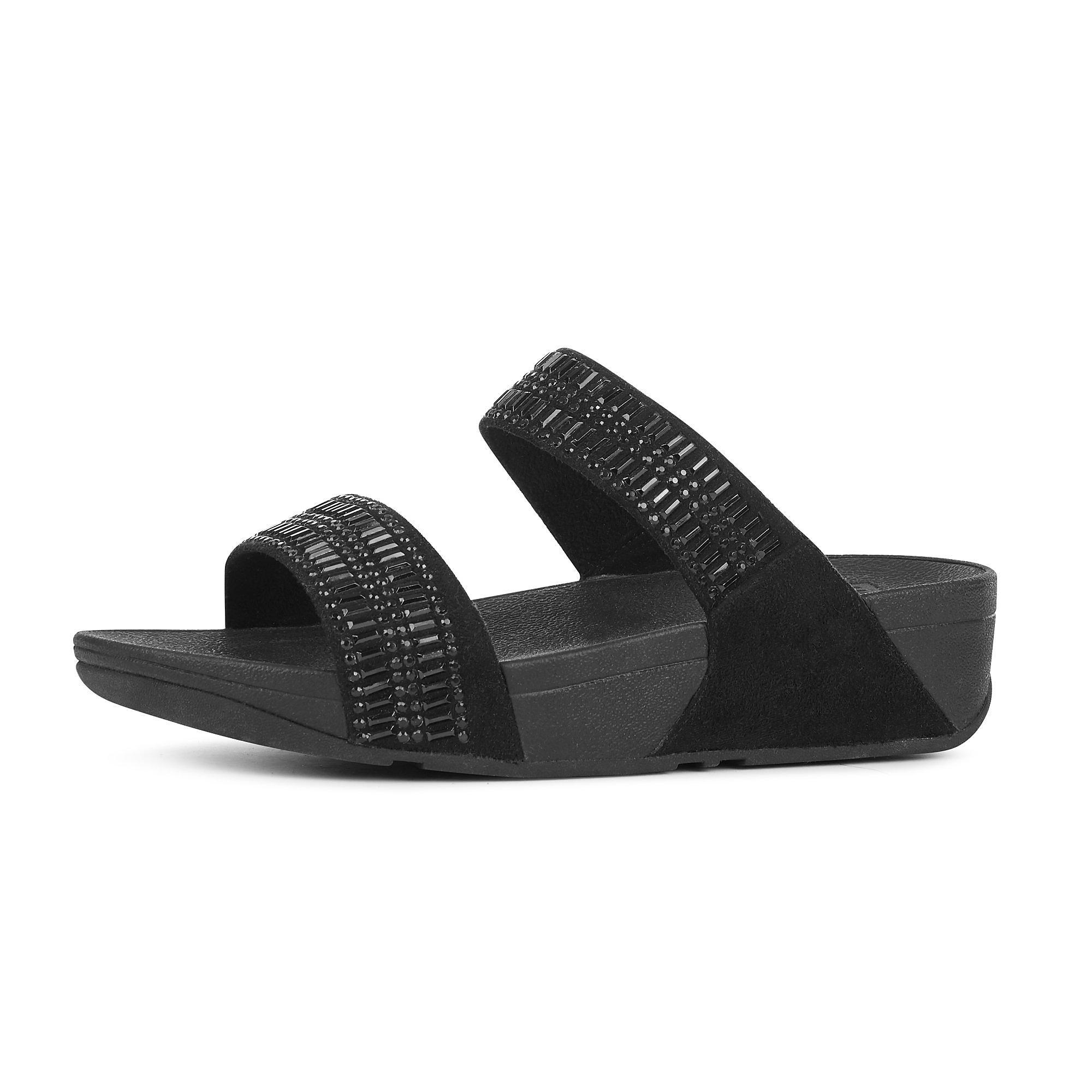 a0b382f17 Fitflop Incastone Slide Sandals in Black - Save 8% - Lyst