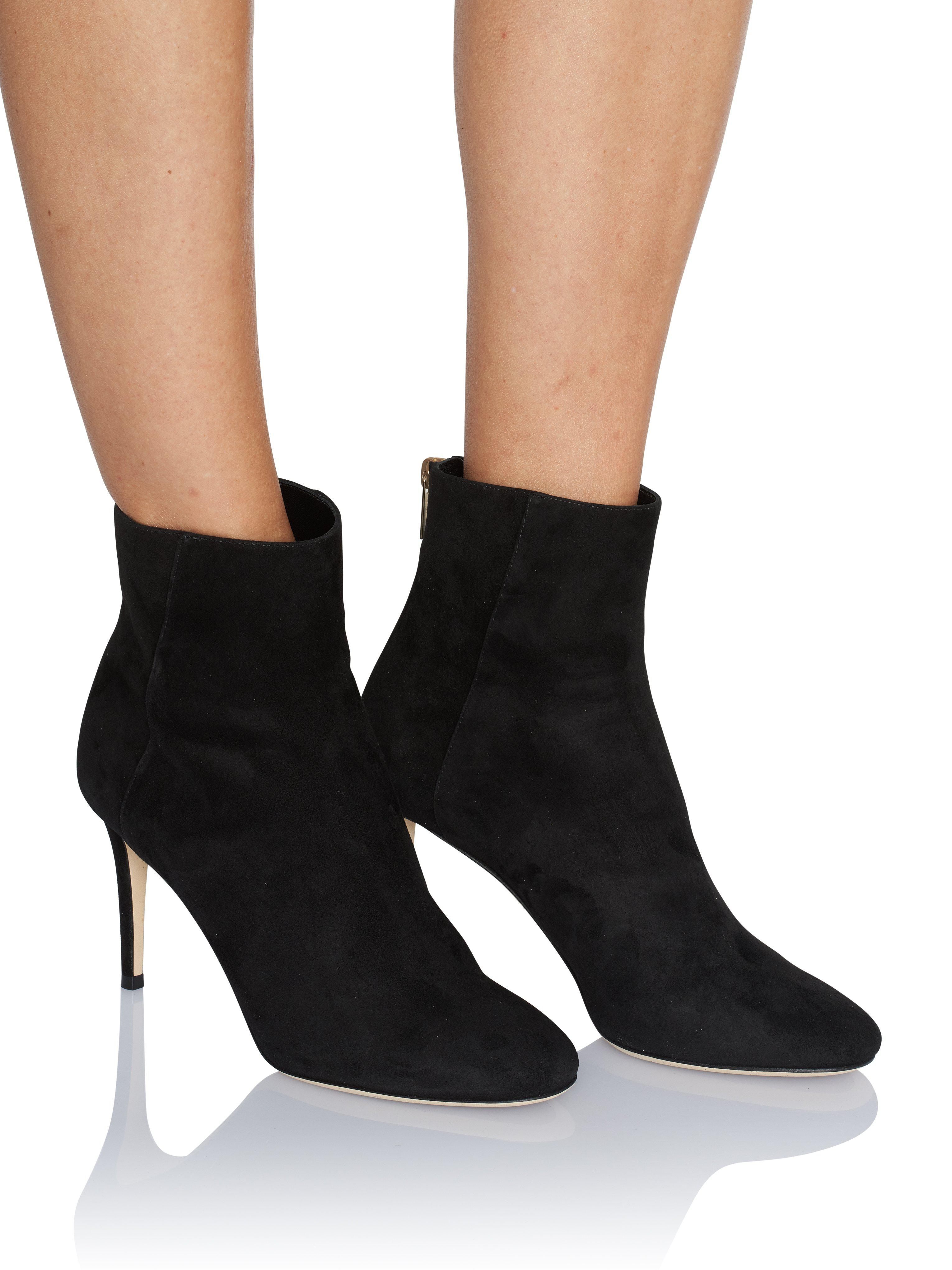 fccd0a43fb2 Jimmy Choo Duke Black Suede Ankle Boot in Black - Lyst