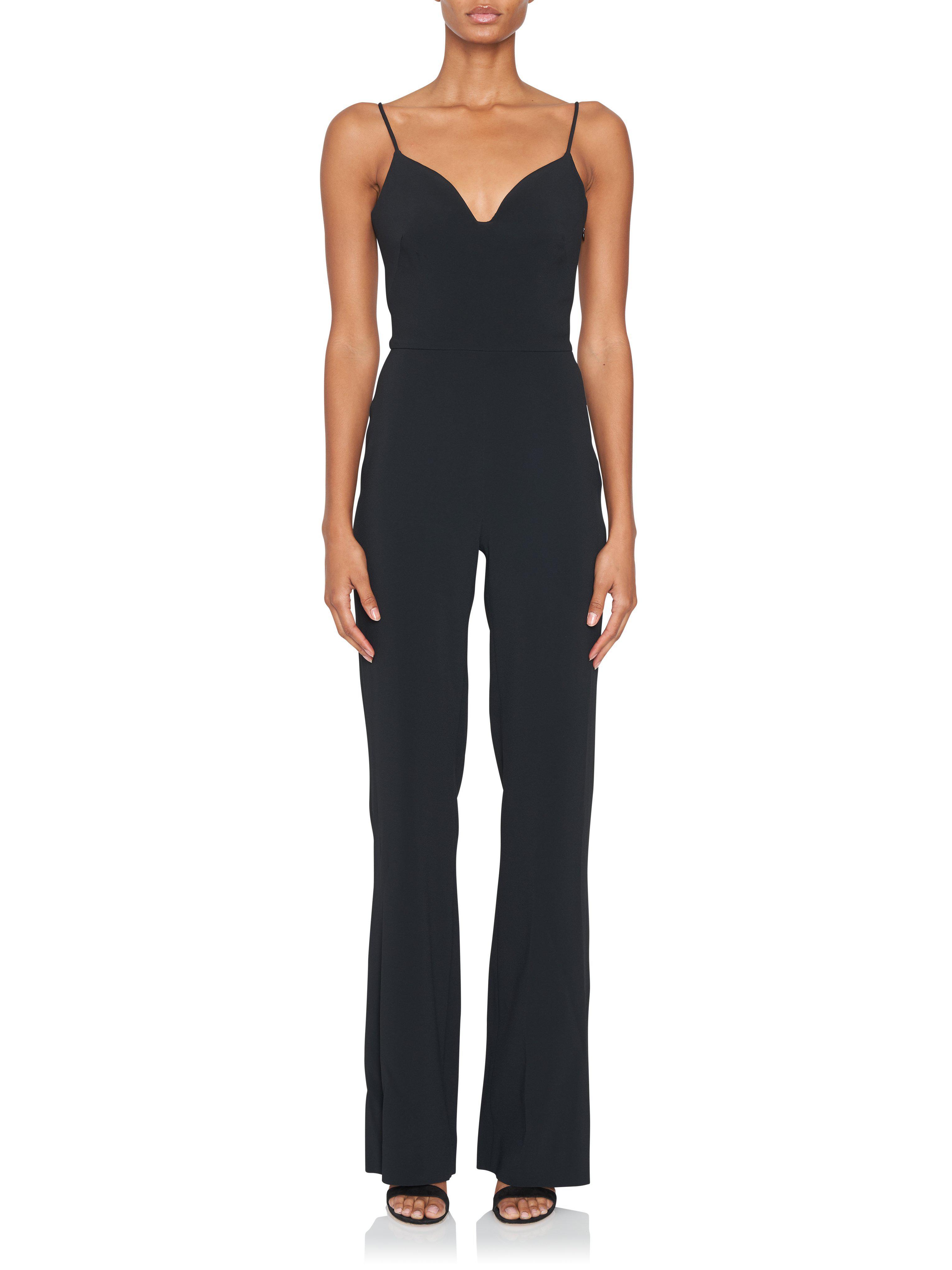 04dd8d35c2b Lyst - Brandon Maxwell Black Sweetheart Neckline Jumpsuit in Black