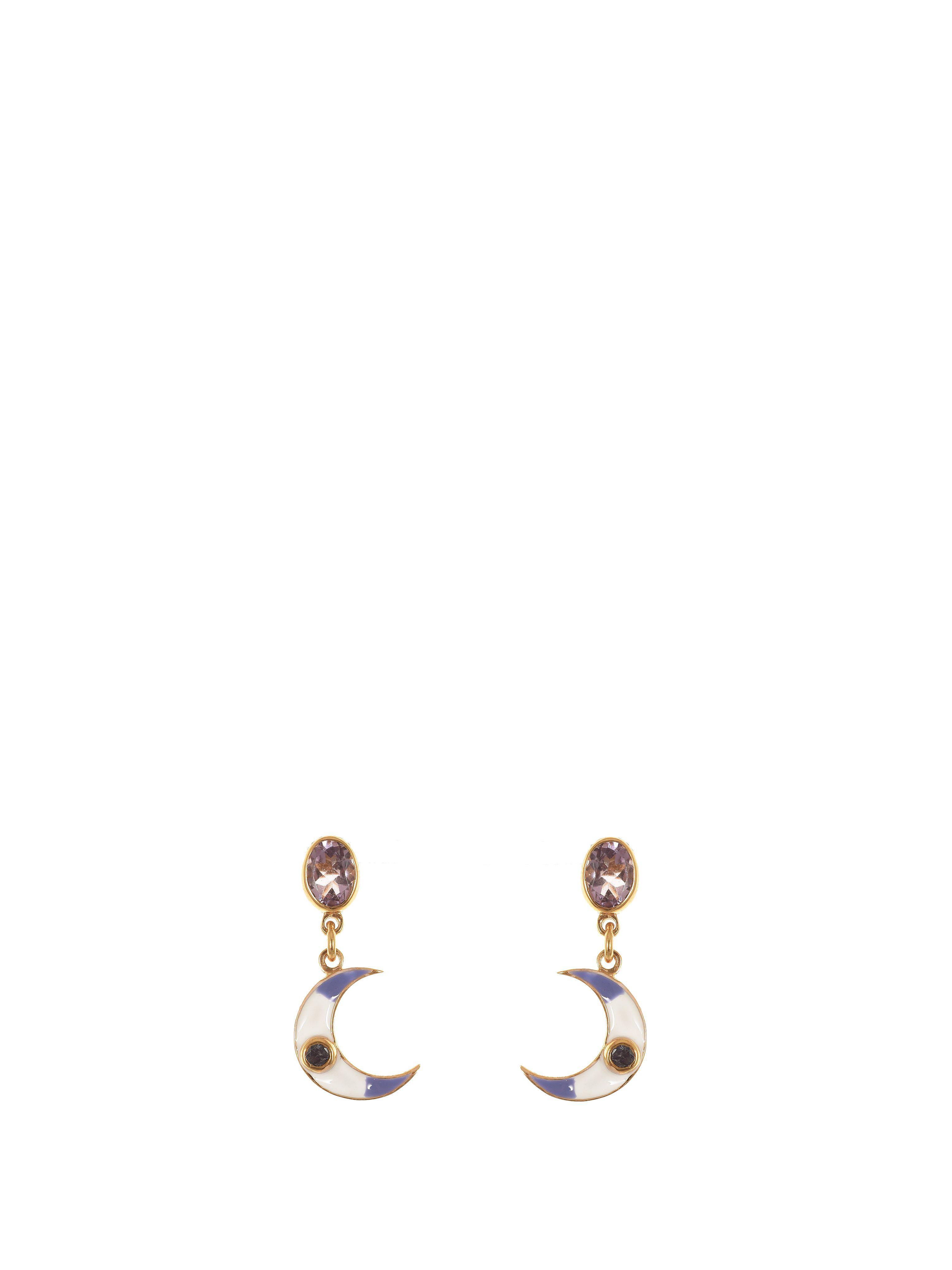 Percossi Papi Diego Purple Moon Earrings WztHgTaN