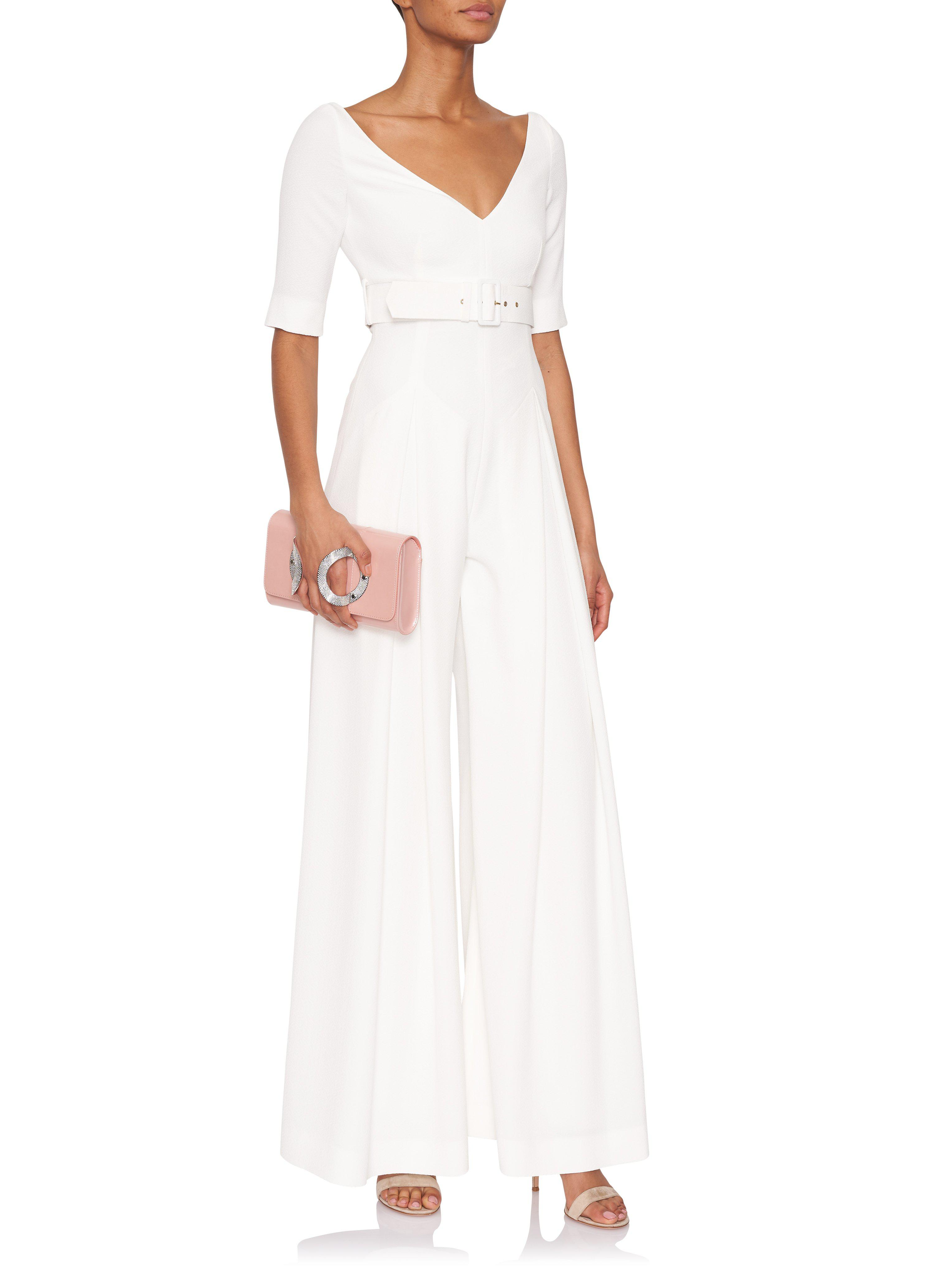 d9e9f8d9dc Lyst - Emilia Wickstead Chantal Short-sleeve Jumpsuit in White