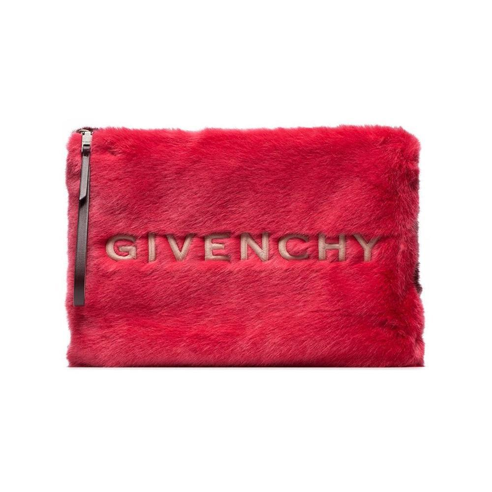 d3a7a51a41b5 Givenchy Faux Fur Pouch By in Red - Lyst