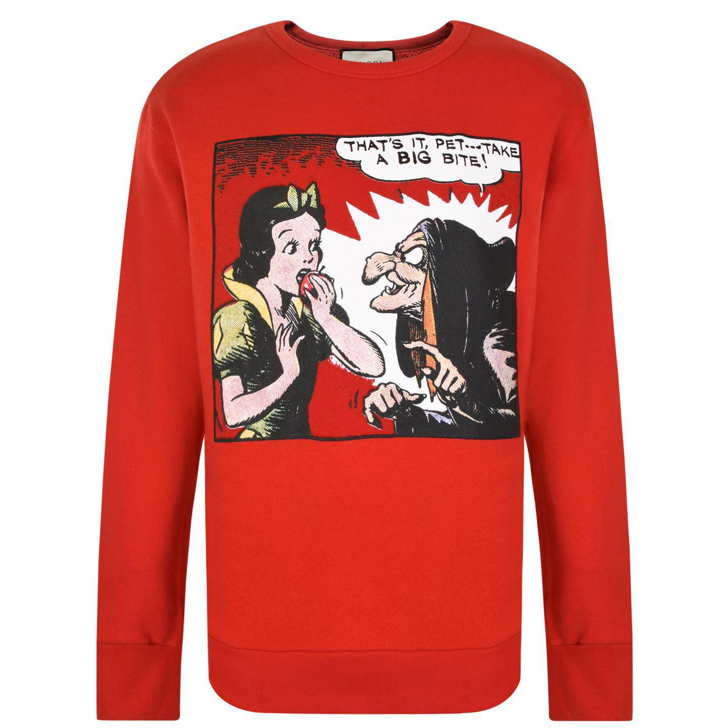 24e3643a Gucci Snow White Sweatshirt in Red for Men - Lyst