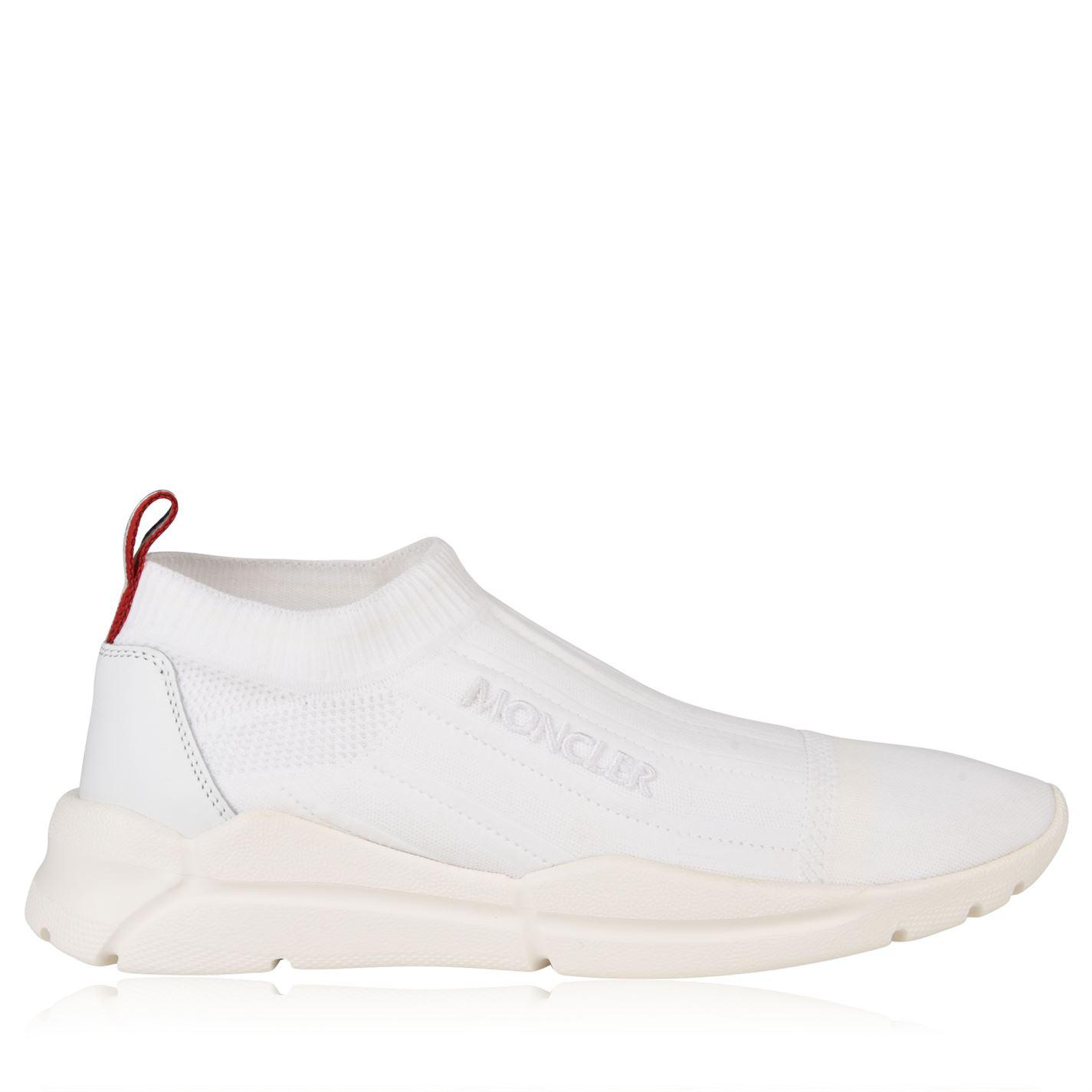 ddc28645f Moncler Adon Logo Trainers in White for Men - Lyst