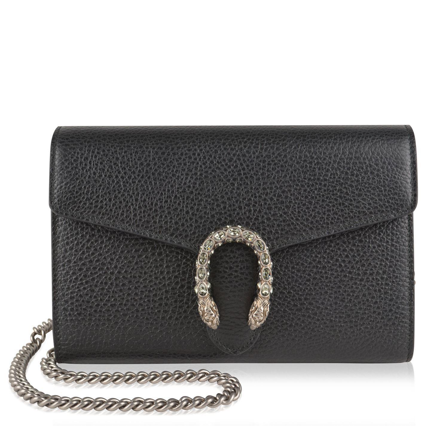 009e0f4d696dec Gucci Dionysus Mini Chain Shoulder Bag in Black - Lyst