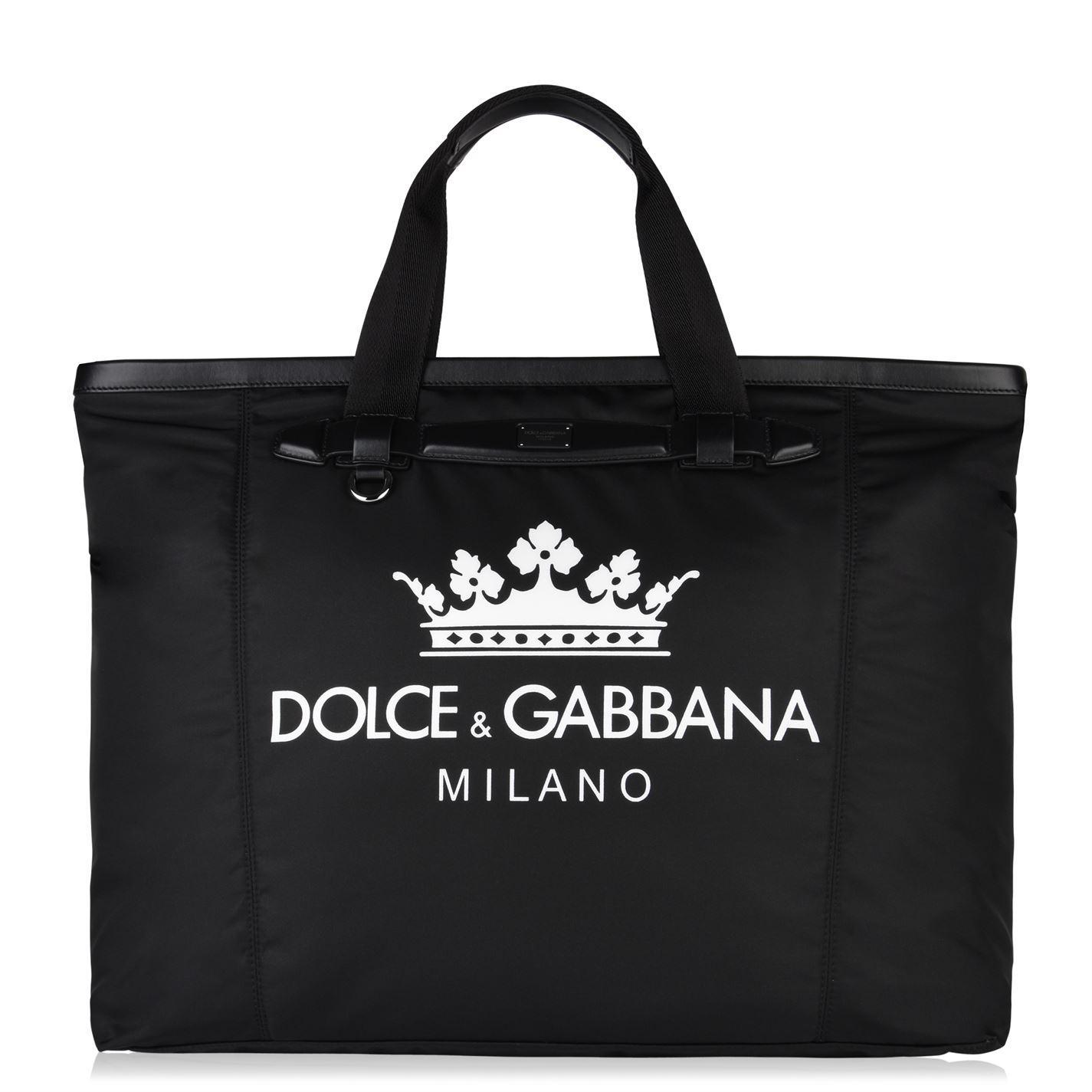 e4fb70b98af Dolce & Gabbana - Black King Crest Holdall for Men - Lyst. View fullscreen