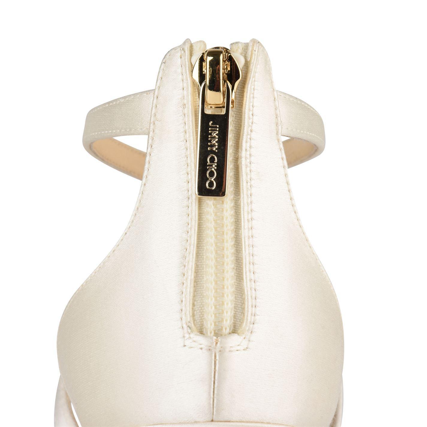 97fd33358b5 Jimmy Choo - White Lorina 100 Heeled Sandals - Lyst. View fullscreen