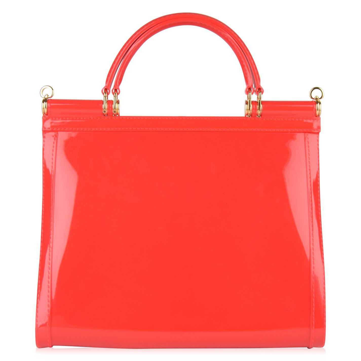 679760ad86 Dolce   Gabbana - Red Sicily Semi Transparent Rubber Bag - Lyst. View  fullscreen