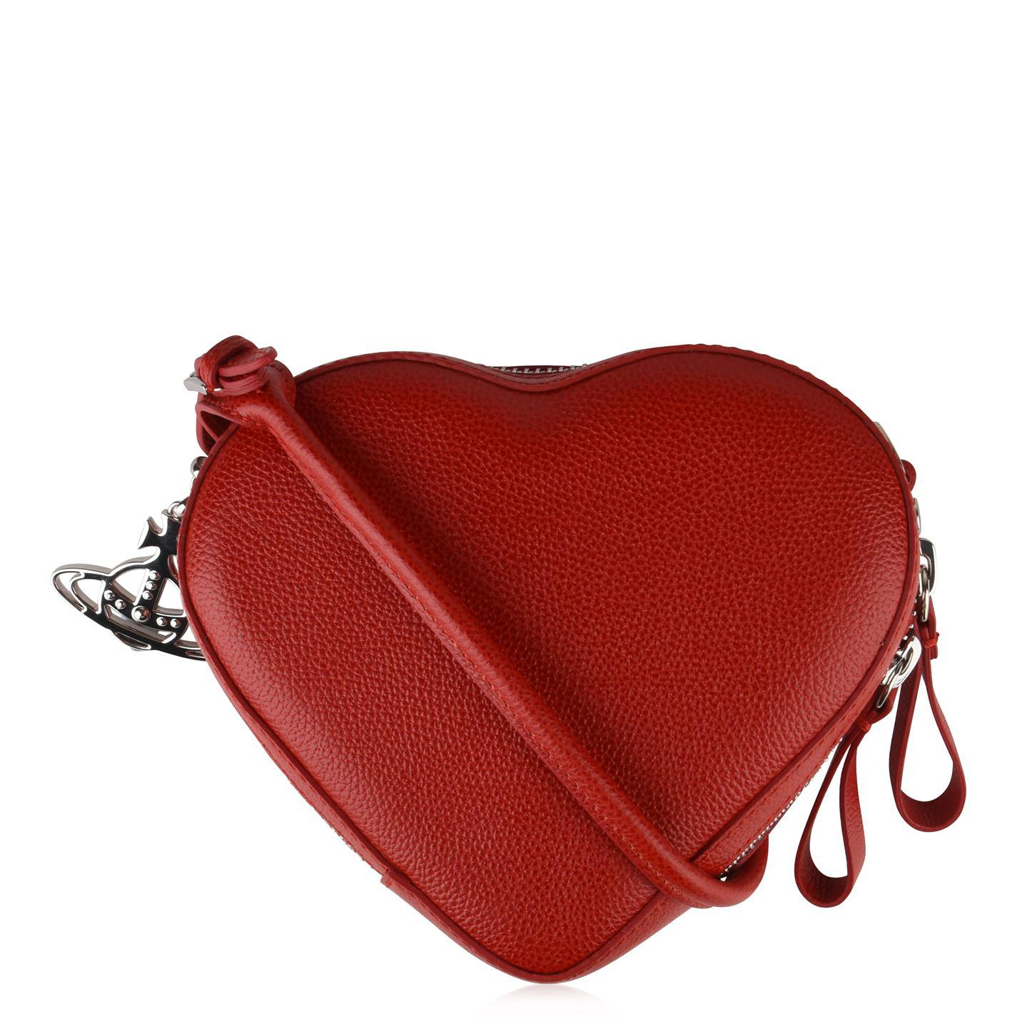 0df7e51e9e1 Vivienne Westwood Johanna Heart Cross Body Bag in Red - Lyst