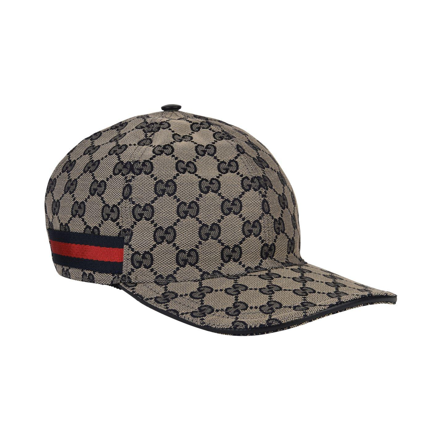 1bf0200cfee Gucci Gg Canvas Cap in Blue for Men - Lyst
