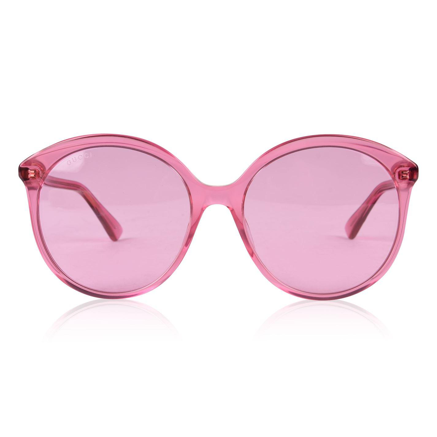 cebcfaa15650 Gucci. Women s Pink Gg0257s Specialized Fit Round Frame Acetate Sunglasses