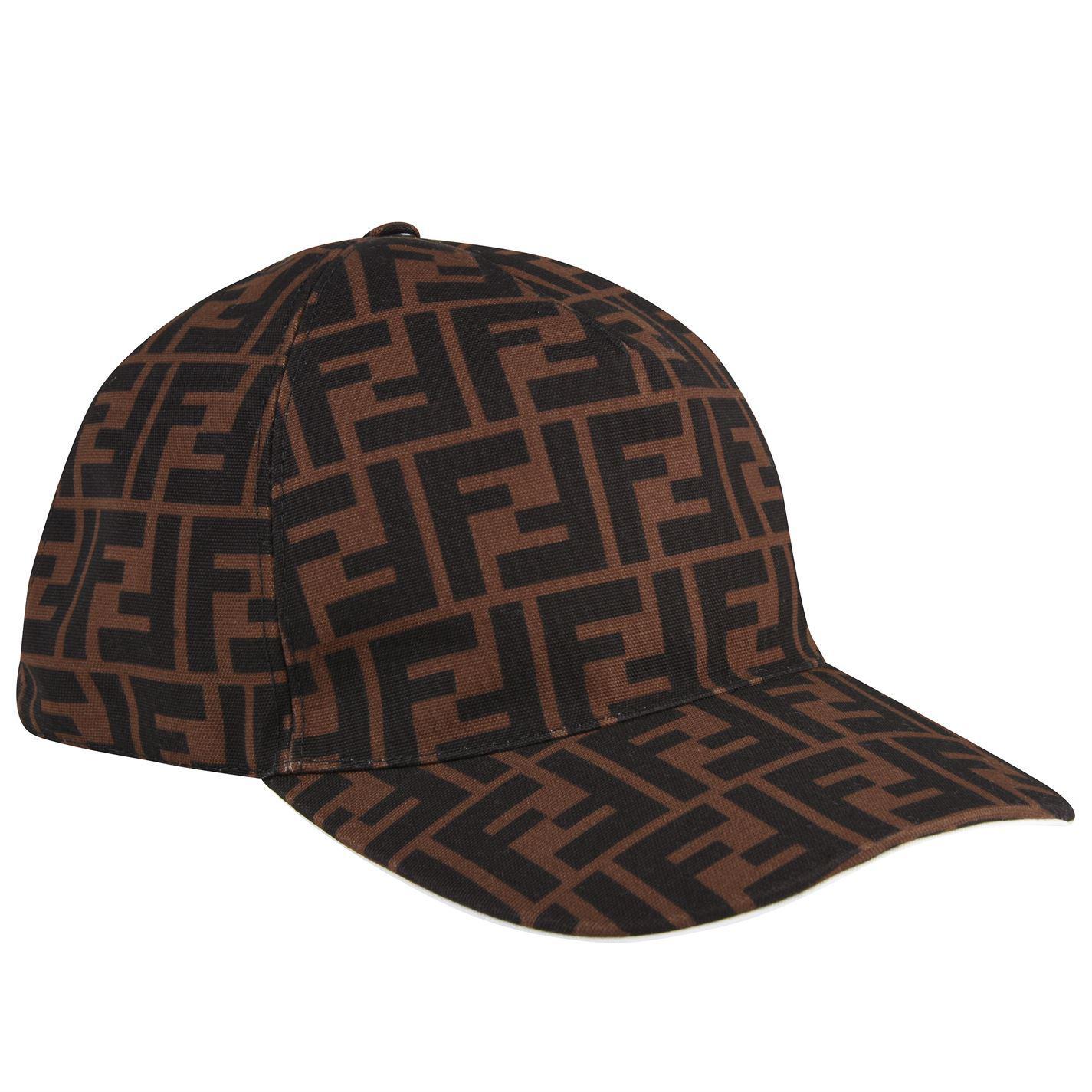 8709f284f08 Lyst - Fendi Ff Cap in Brown for Men - Save 33%