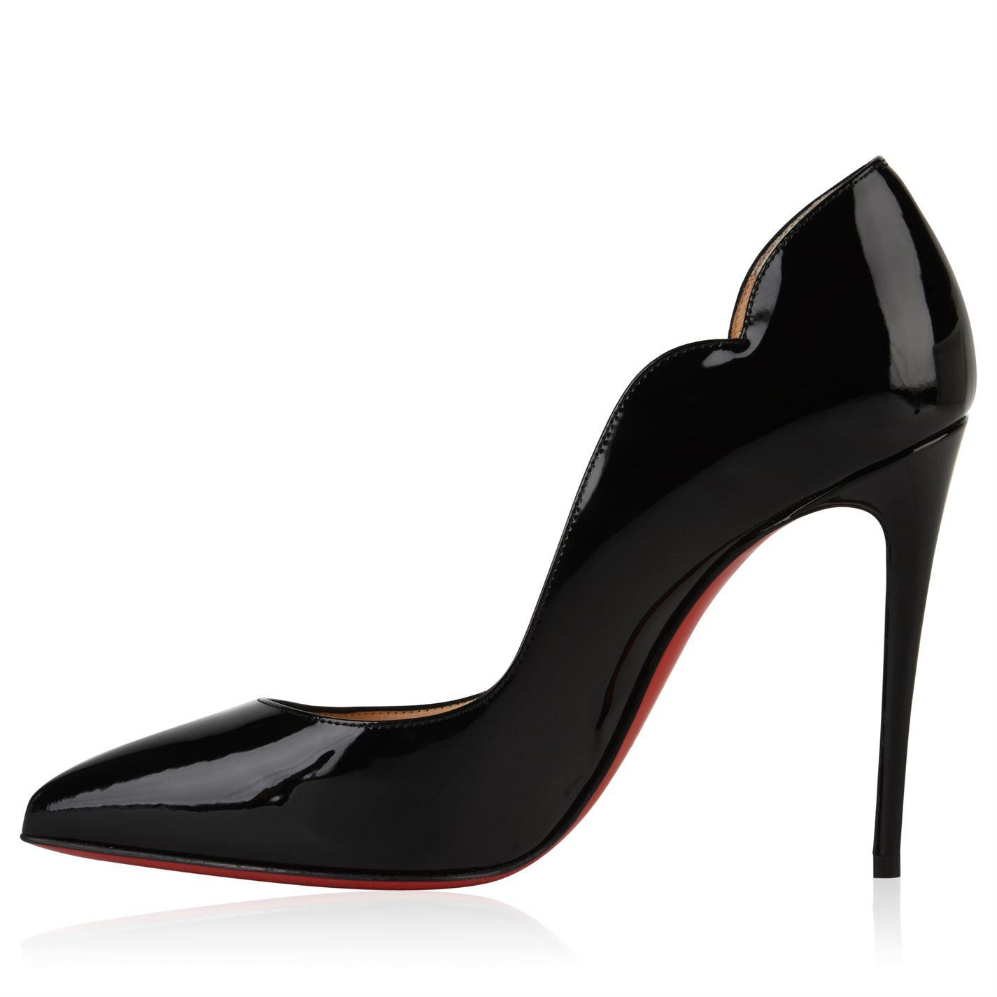 5a8d7e2f49e Christian Louboutin - Black Patent Hot Chick Heels - Lyst. View fullscreen
