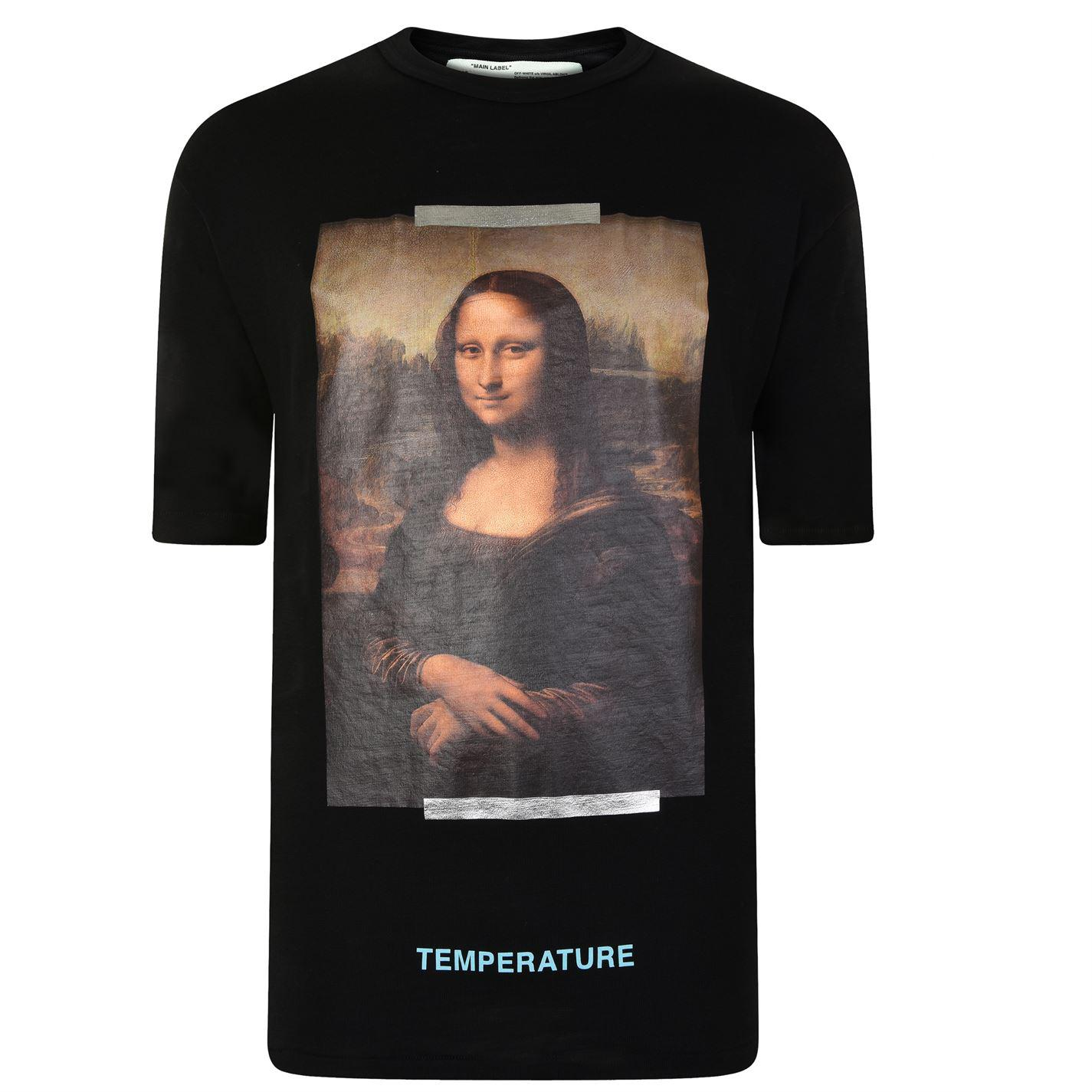b25985c5 Lyst - Off-White c/o Virgil Abloh Mona Lisa T Shirt in Black for Men