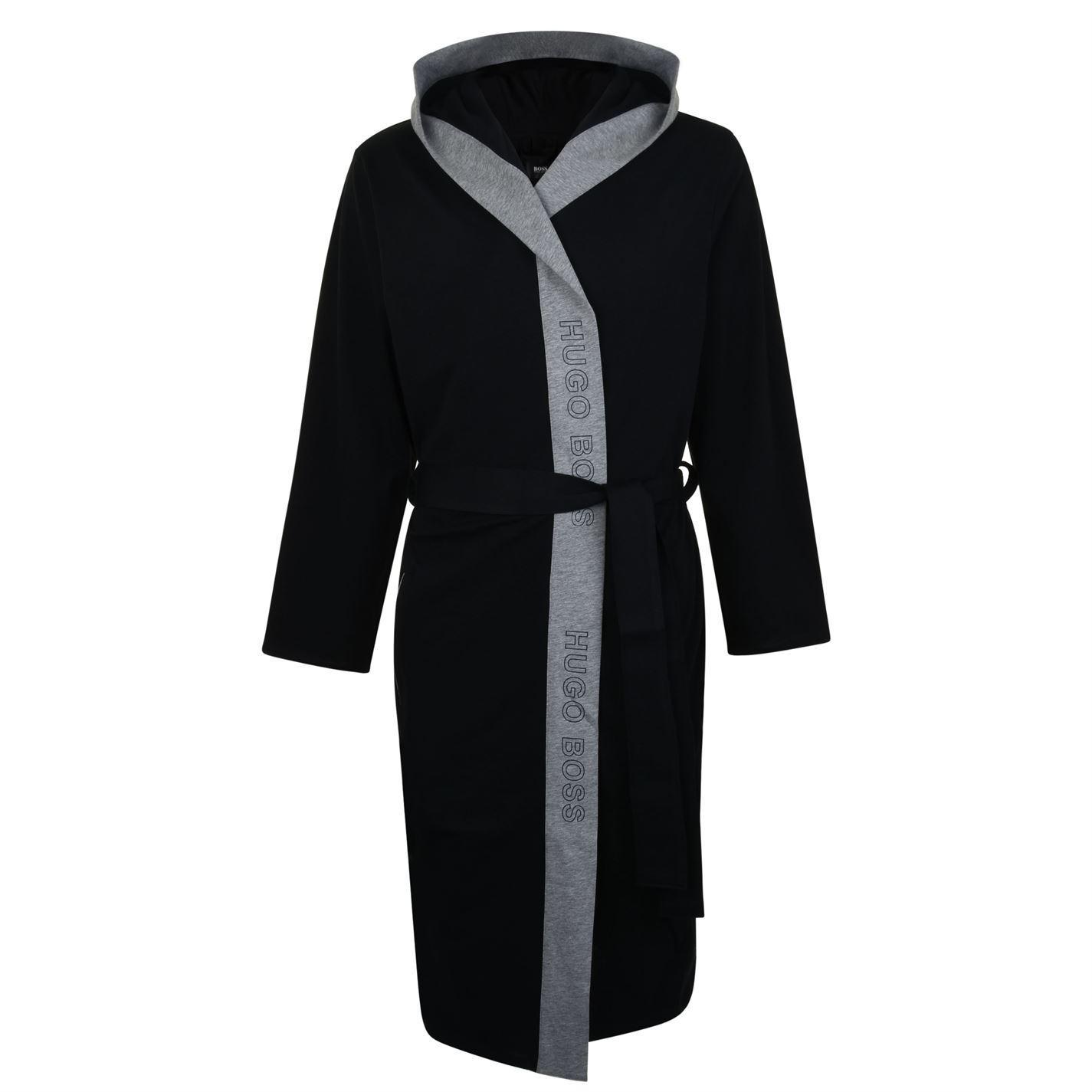 d8e0d1b37f BOSS by Hugo Boss Identity Dressing Gown in Black for Men - Lyst
