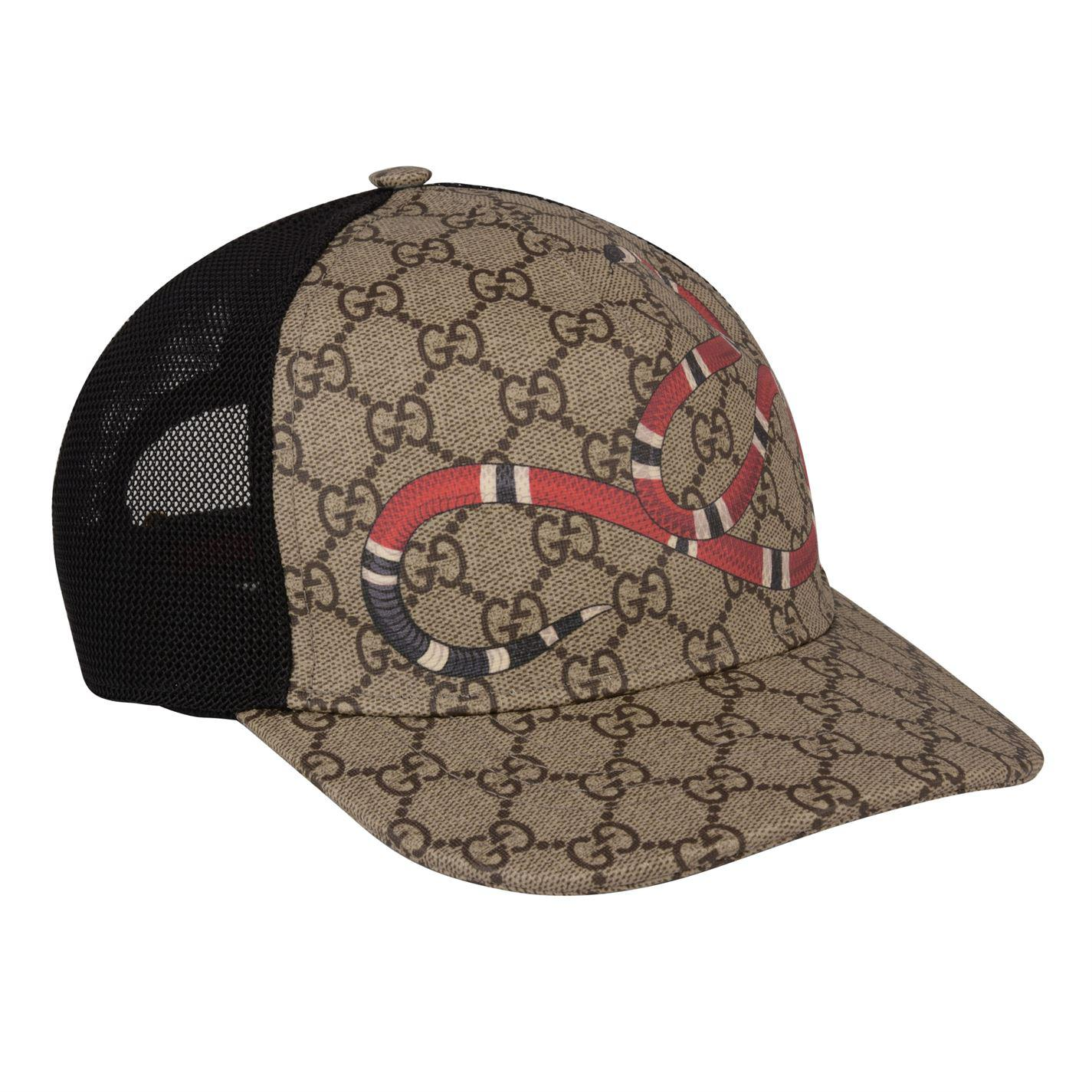 63b60f8147c2 Lyst - Gucci Snake Supreme Cap in Brown for Men