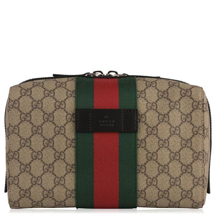5d4cc4b382 Gucci Gg Logo Wash Bag in Natural for Men - Lyst